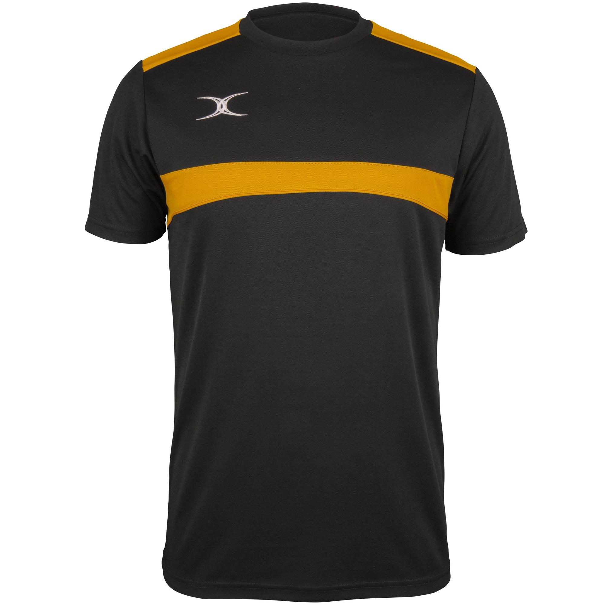 Gilbert Mens Photon T-Shirt (M) (Black/Gold)