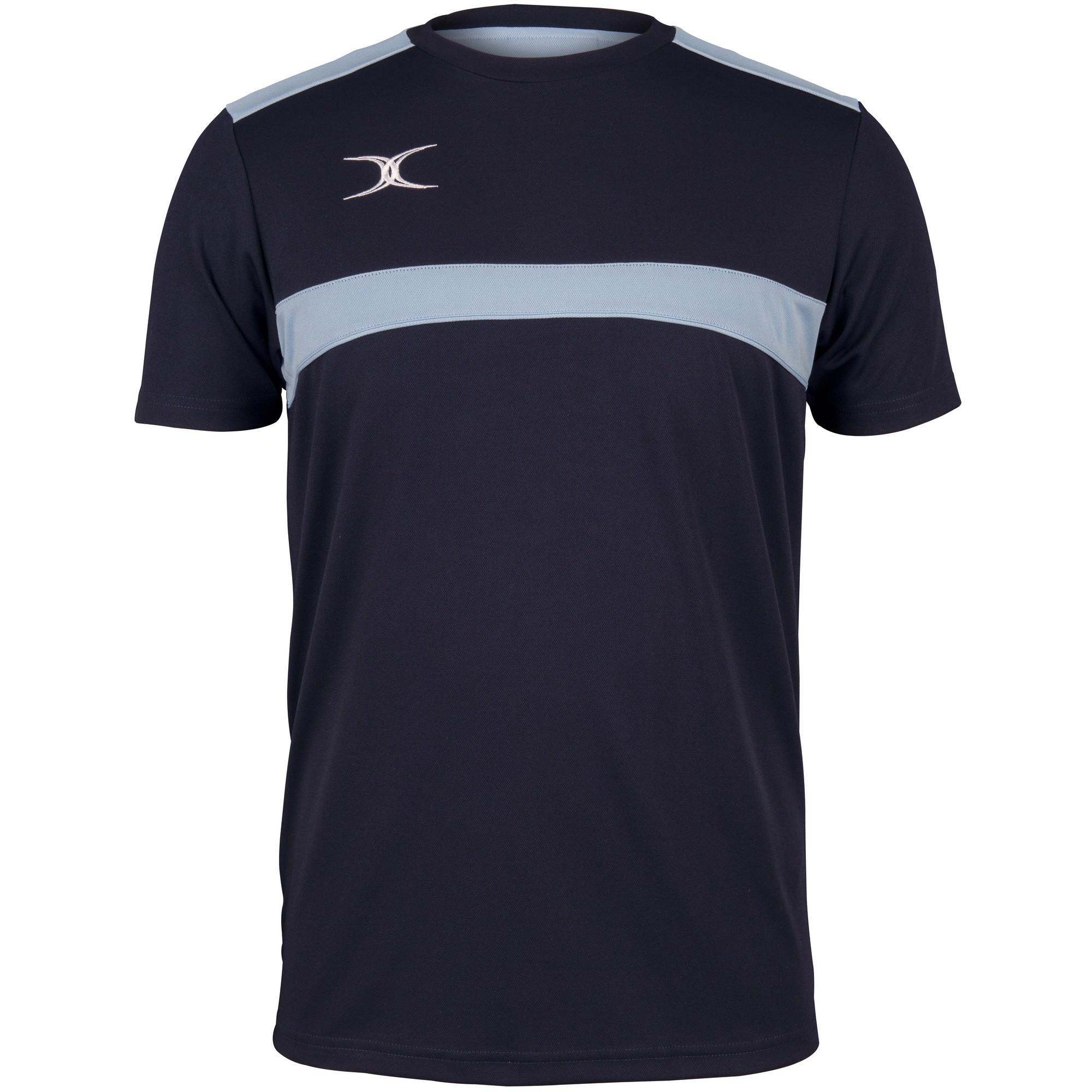 Gilbert Mens Photon T-Shirt (M) (Dark Navy/Sky Blue)