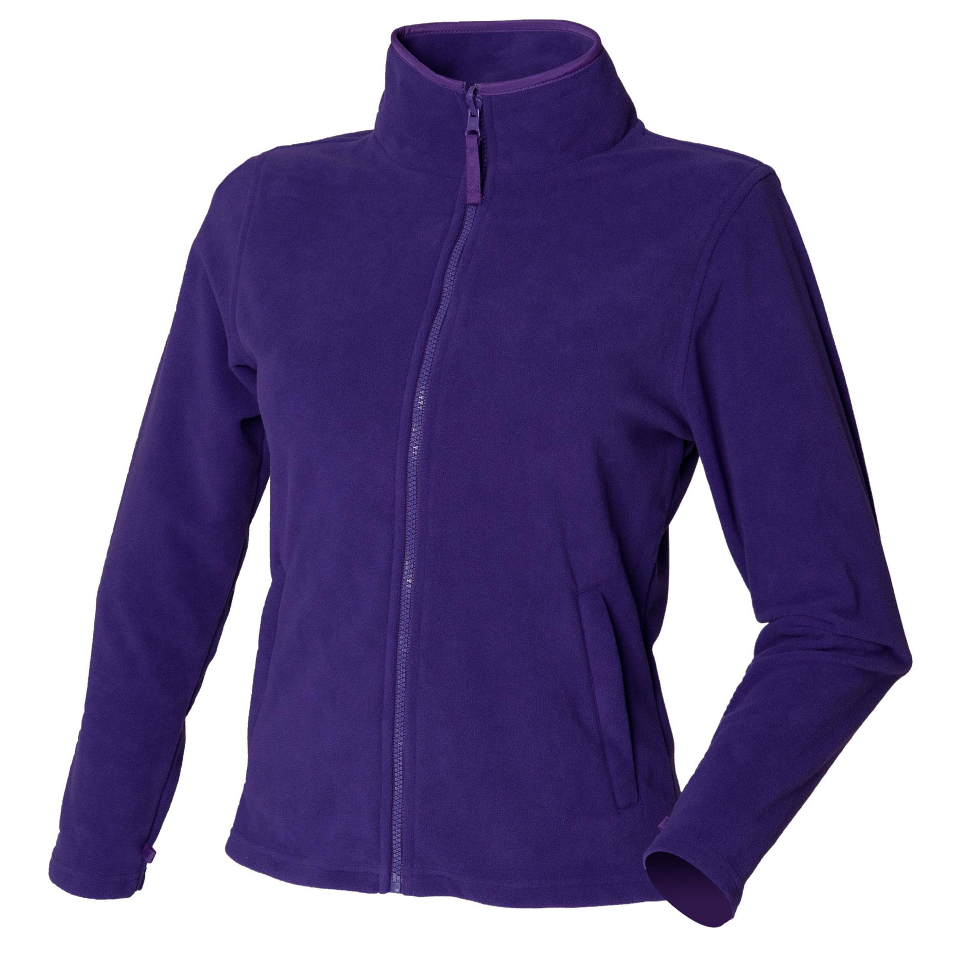 Henbury Womens/Ladies Microfleece Anti-Pill Jacket (S) (Purple)