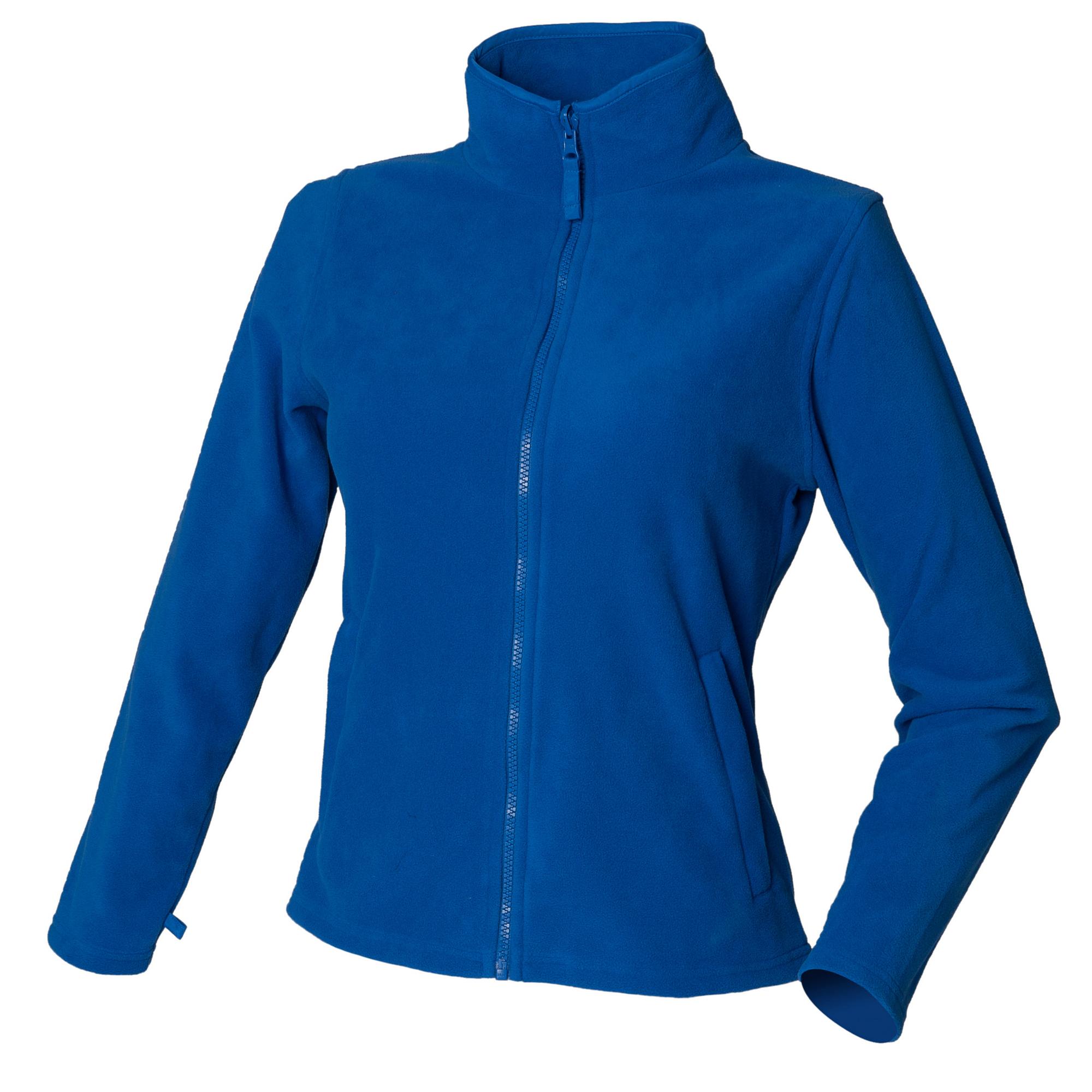 Henbury Womens/Ladies Microfleece Anti-Pill Jacket (M) (Royal)
