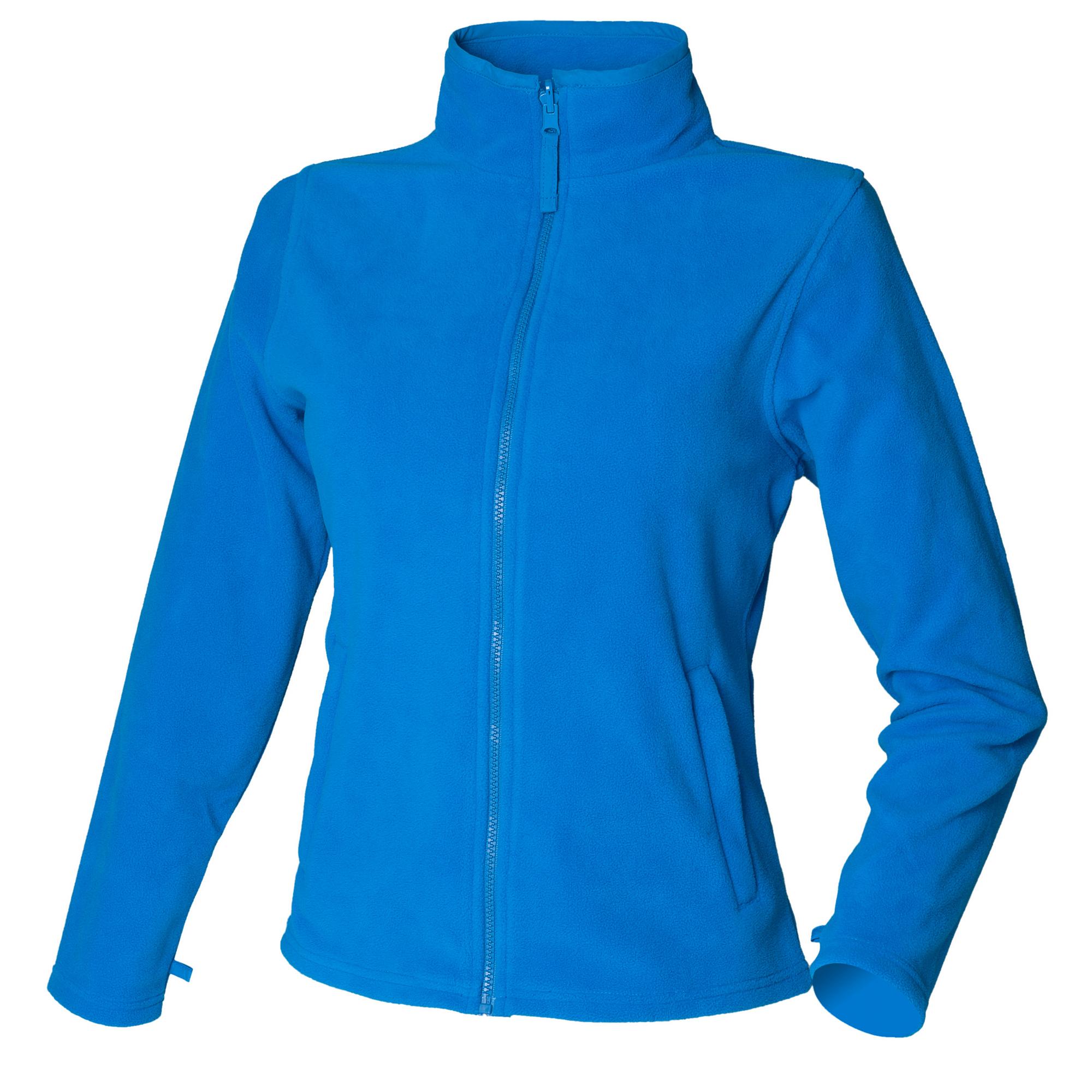 Henbury Womens/Ladies Microfleece Anti-Pill Jacket (XXL) (Vivid Blue)