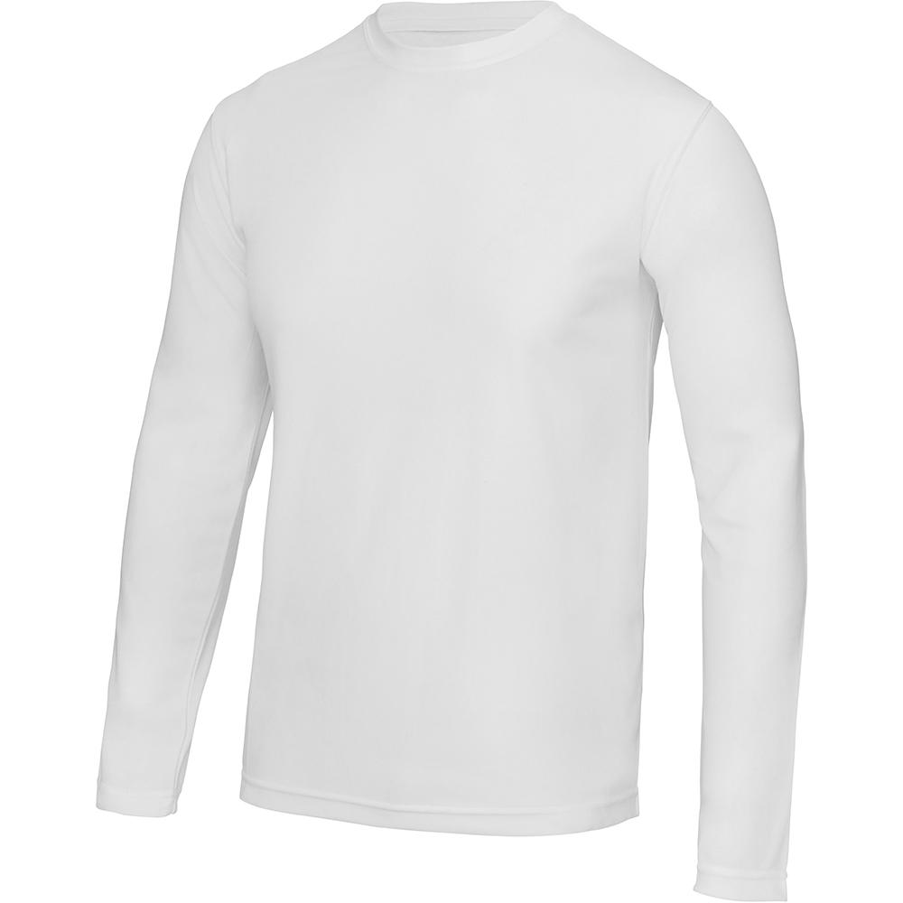 AWDis Just Cool Mens Long Sleeve Cool Sports Performance Plain T-Shirt (XL) (Charcoal)