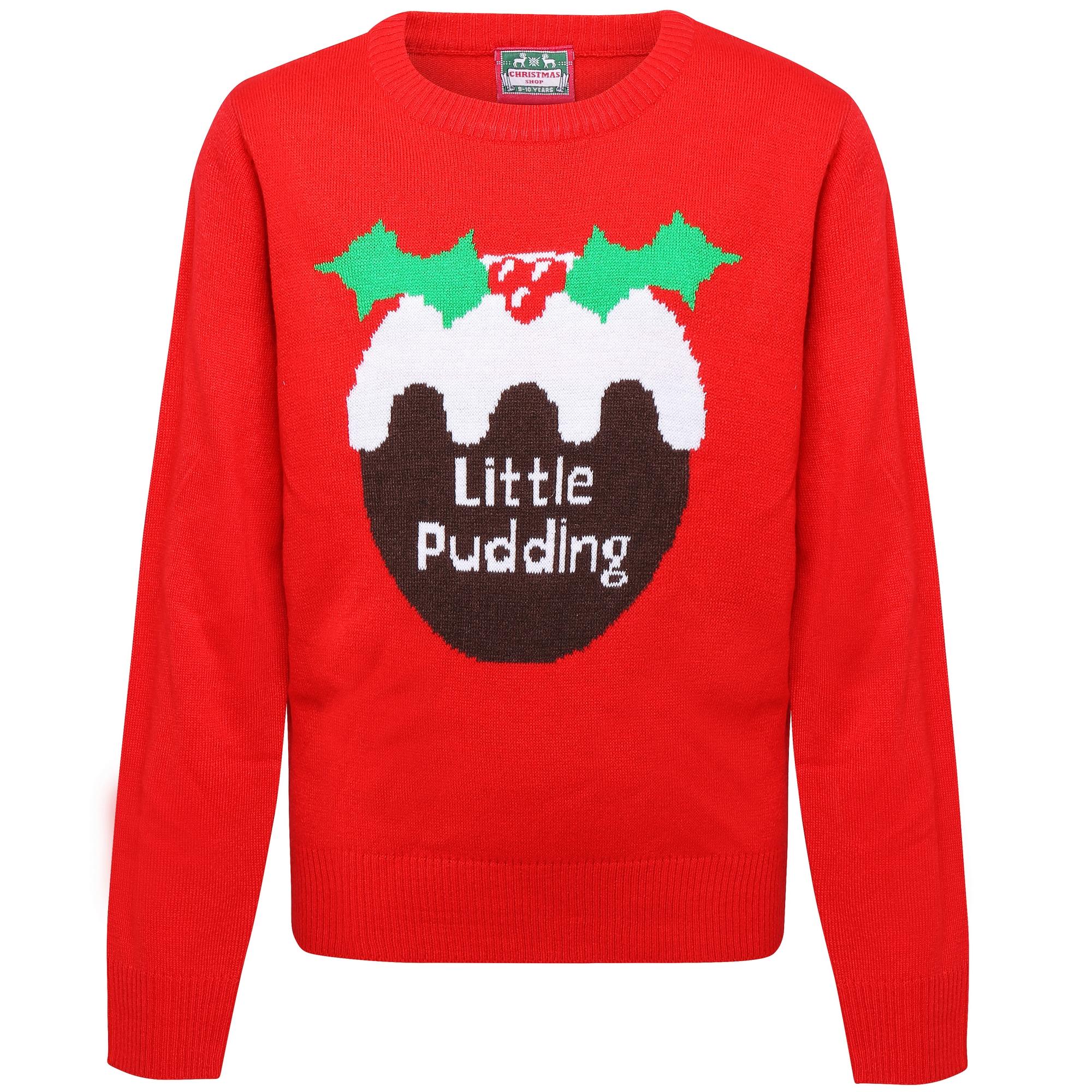Industrieux Christmas Shop - Pull De Noël Little Pudding - Enfant (lot De 2) (rw6864)