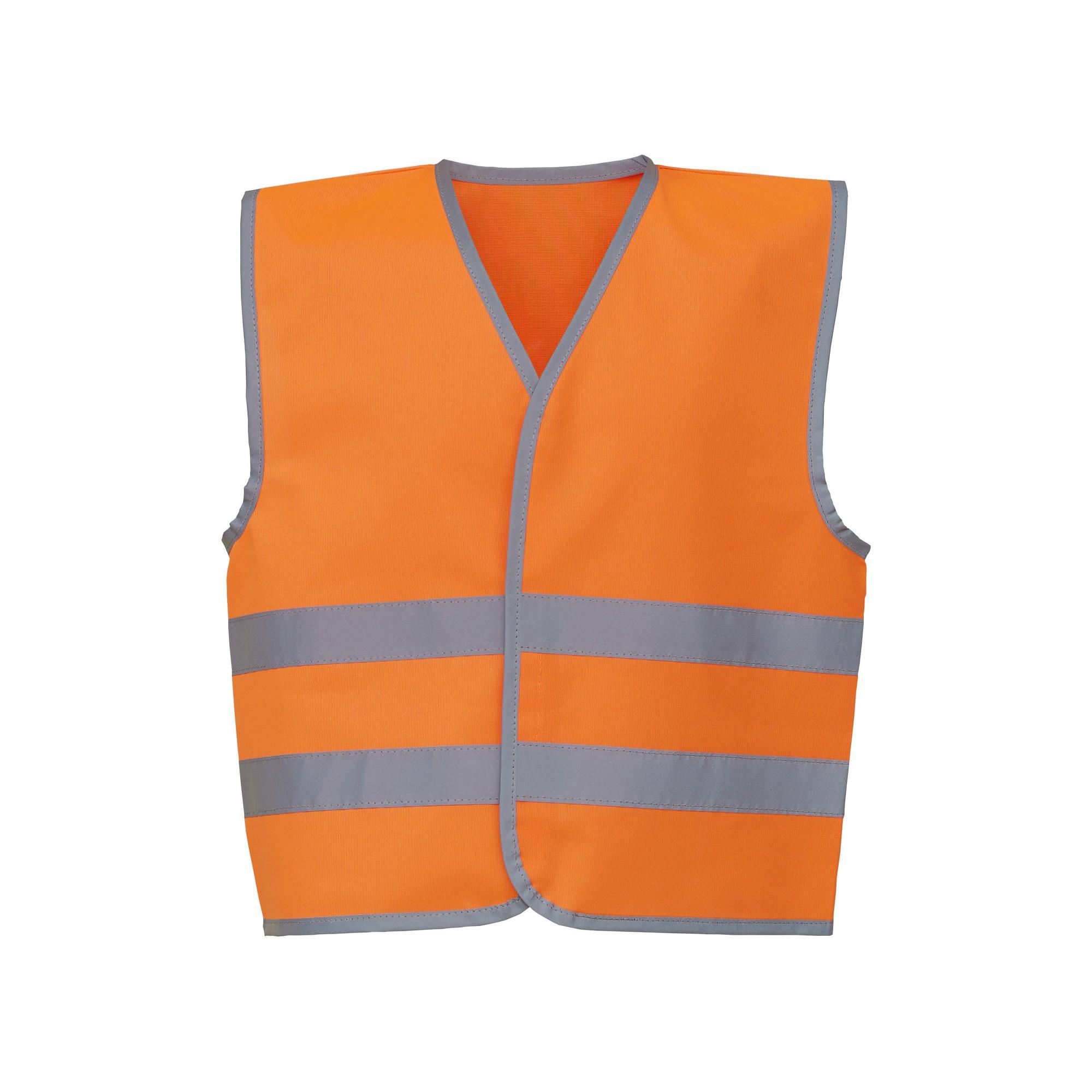 Yoko Hi-Vis Childrens/Kids Reflective Border Waistcoat (Pack of 2) (M) (Orange)