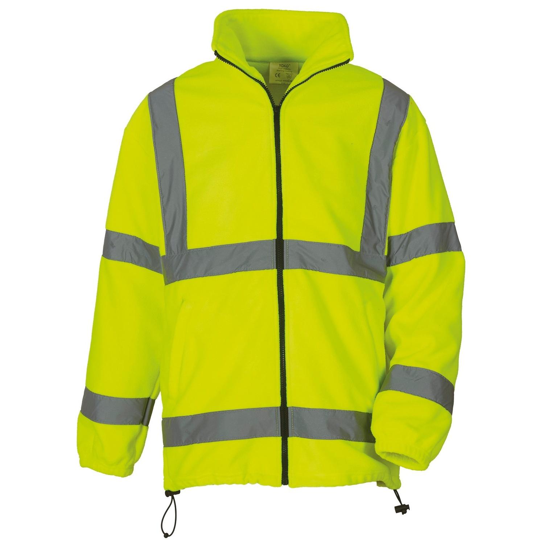 Yoko Mens Hi Vis Heavyweight Fleece Jacket (Pack of 2) (L) (Yellow)