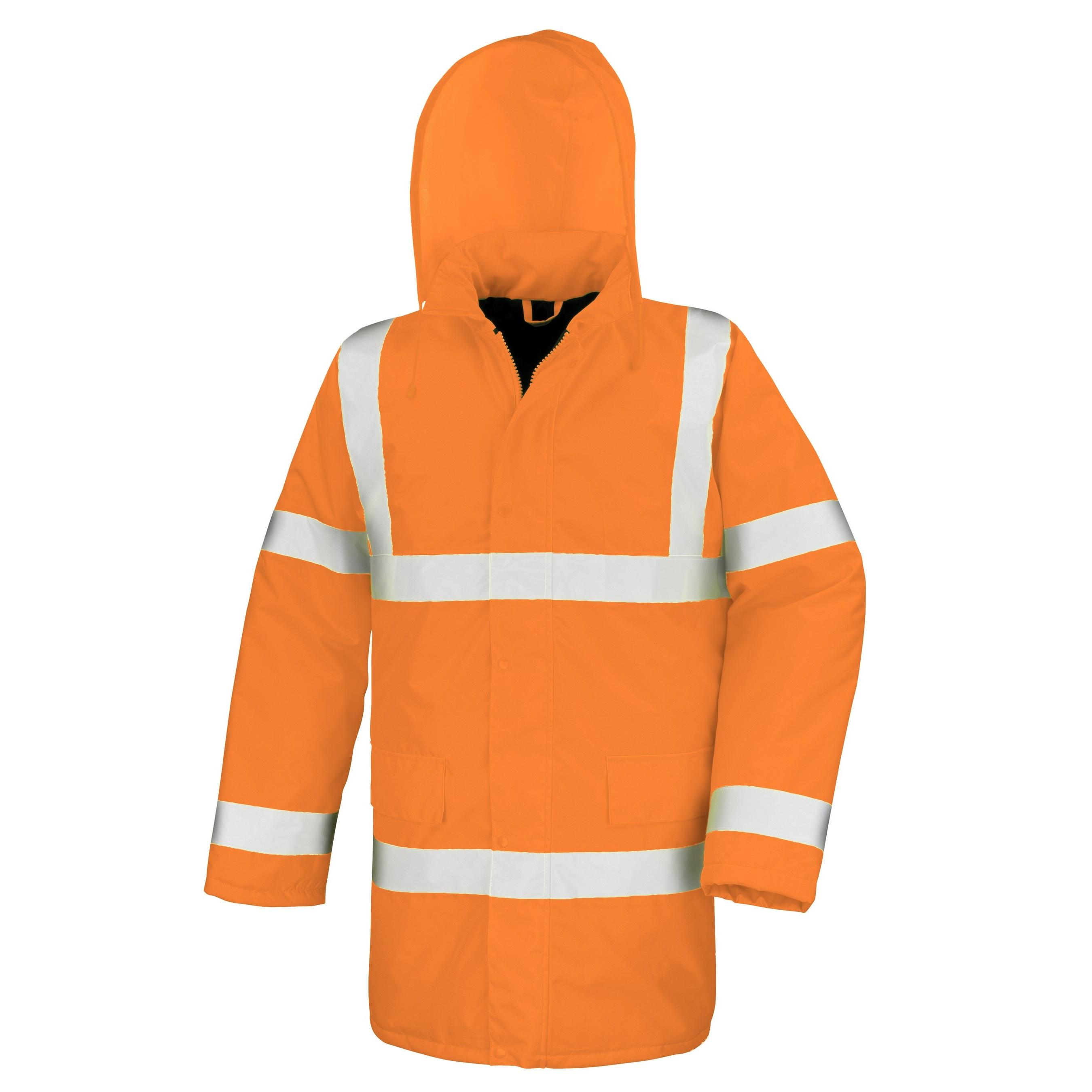 Result Core High-Viz Motorway Coat (Waterproof & Windproof) (Pack of 2) (S) (Orange)