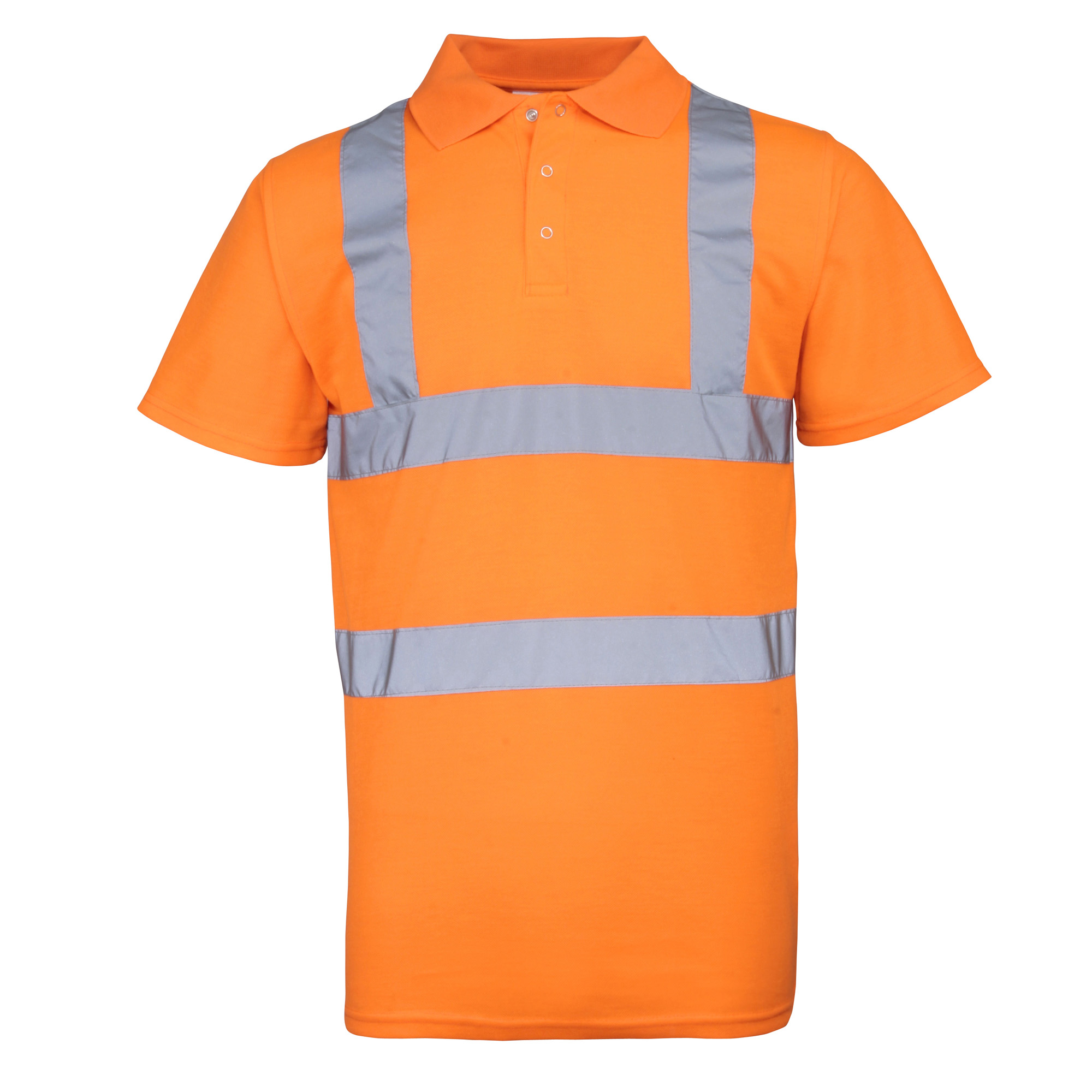 RTY High Visibility Mens High Vis Polo Shirt (Pack of 2) (2XL) (Fluorescent Orange)