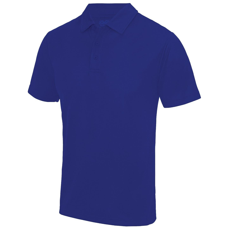 AWDis Just Cool Mens Plain Sports Polo Shirt (S) (Reflex Blue)