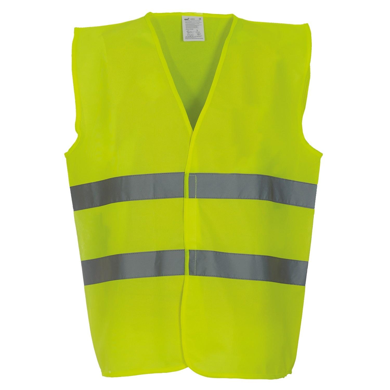 Yoko Mens Hi Vis 2 Bands Vest/Waistcoat (Pack of 2) (M) (Yellow)