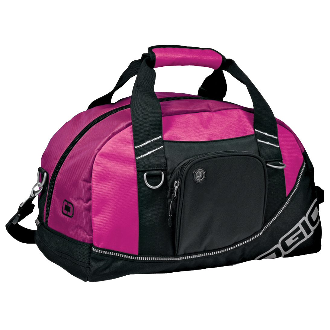 Ogio Half Dome Sports/Gym Duffle Bag (29.5 Litres) (Pack of 2) (One Size) (Hot Pink/Black)