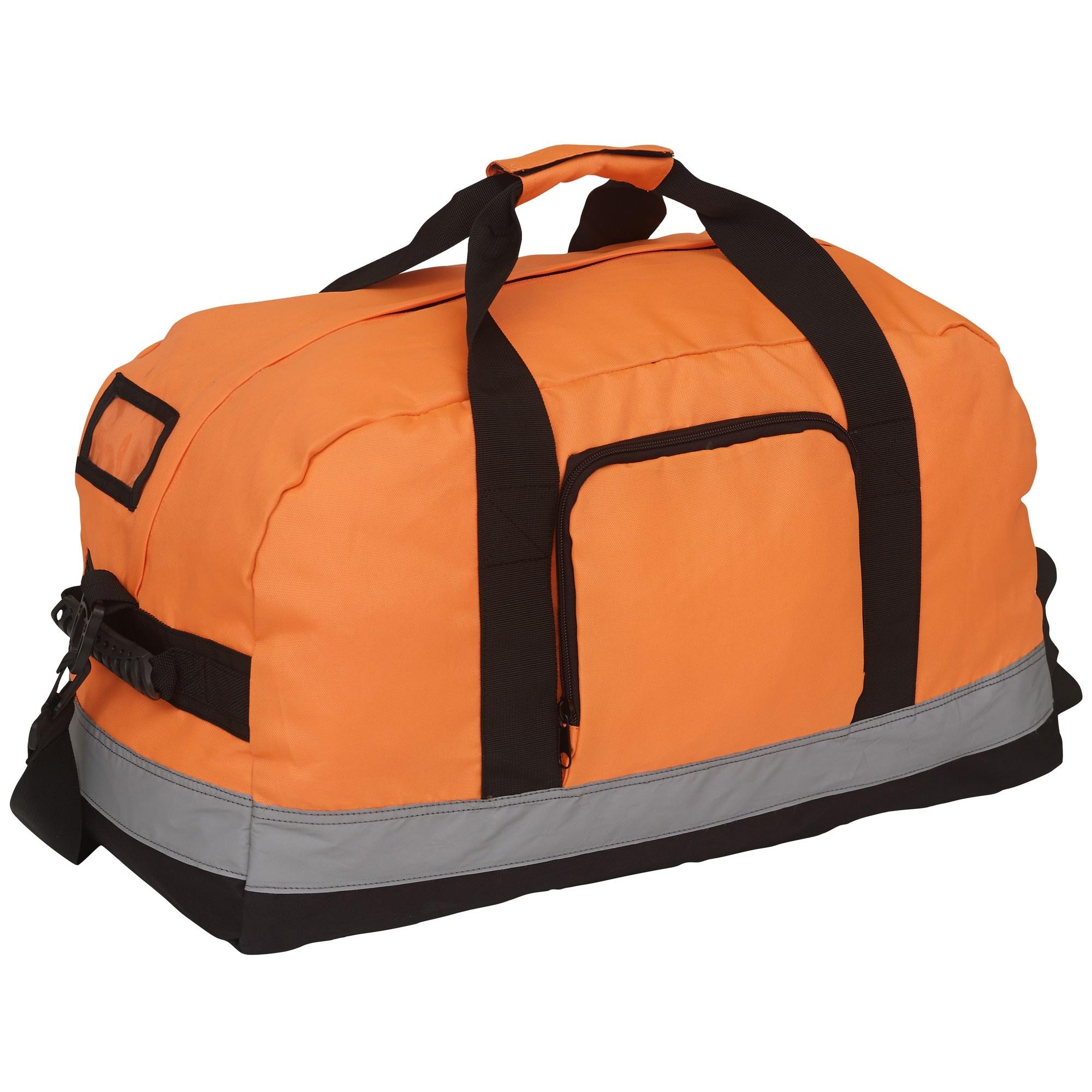 Yoko Hi-Vis Seattle Holdall/Duffle Bag (Pack of 2) (One Size) (Orange)