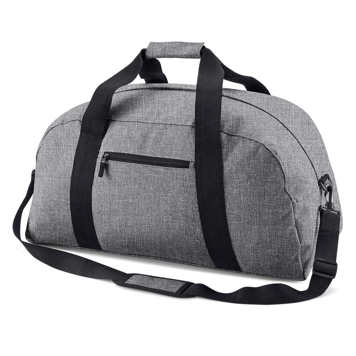 BagBase Classic Holdall / Duffle Travel Bag (Pack of 2) (One Size) (Grey Marl)