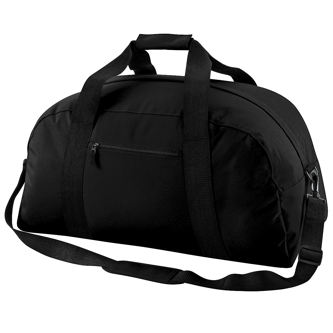 BagBase Classic Holdall / Duffle Travel Bag (Pack of 2) (One Size) (Black)
