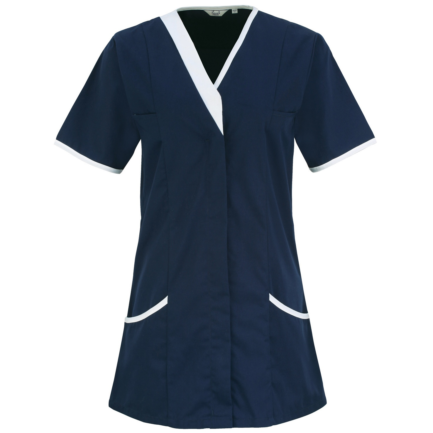 Premier Womens/Ladies Daisy Healthcare Work Tunic (Pack of 2) (10UK) (Navy/ White)