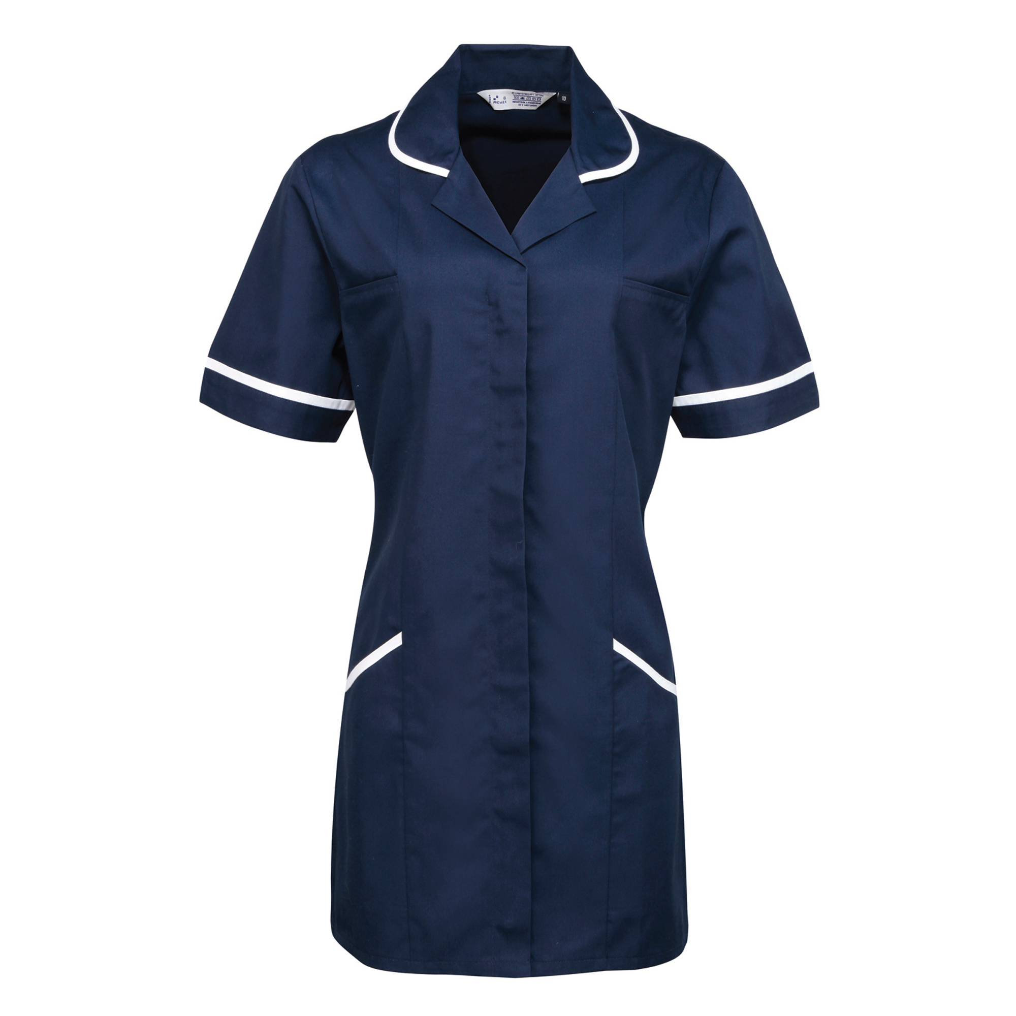 Premier Ladies/Womens Vitality Medical/Healthcare Work Tunic (Pack of 2) (24) (Navy/ White)