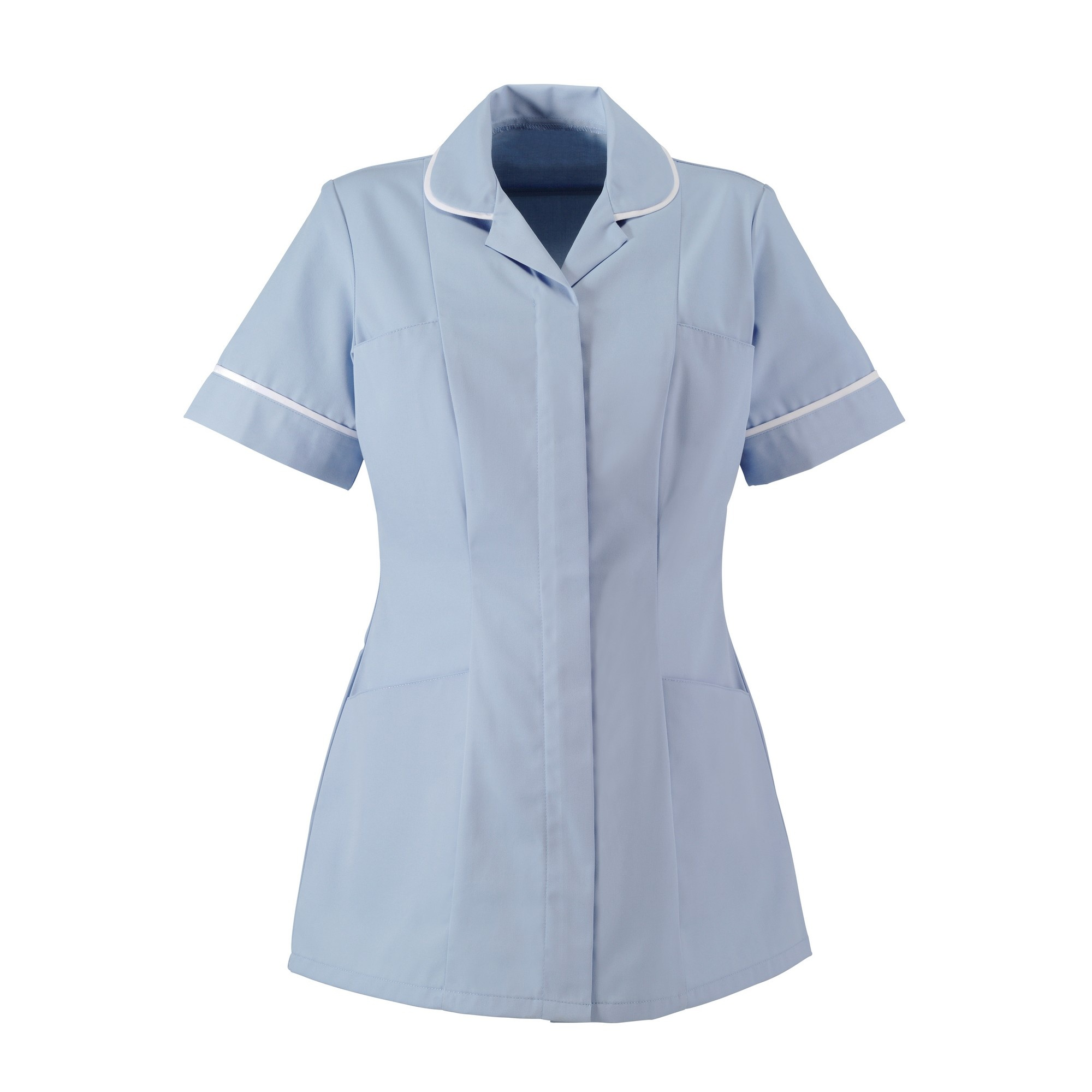 Alexandra Womens/Ladies Two Tone Classic Cut Medical/Healthcare Tunic (Pack of 2) (14) (Pale Blue/White)
