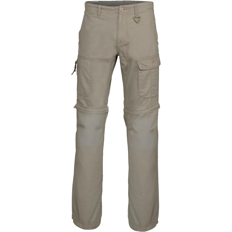 Kariban Mens Zip-off Multi-Pocket Work Trousers (Pack of 2) (M) (Dark Beige)