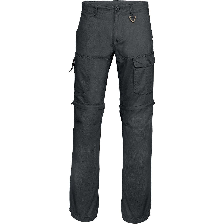 Kariban Mens Zip-off Multi-Pocket Work Trousers (Pack of 2) (4XL) (Black)