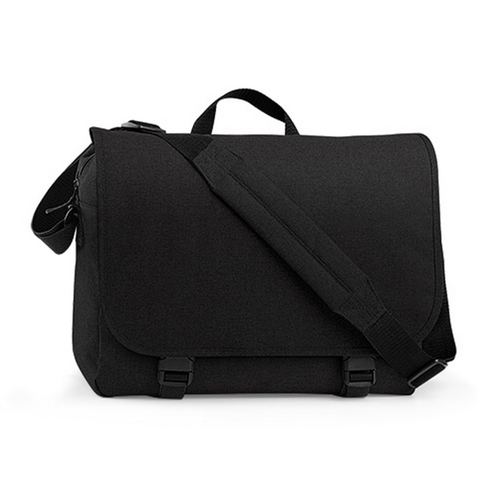 BagBase Two-tone Digital Messenger Bag (Up To 15.6inch Laptop Compartment) (Pack of 2) (One Size) (Black)