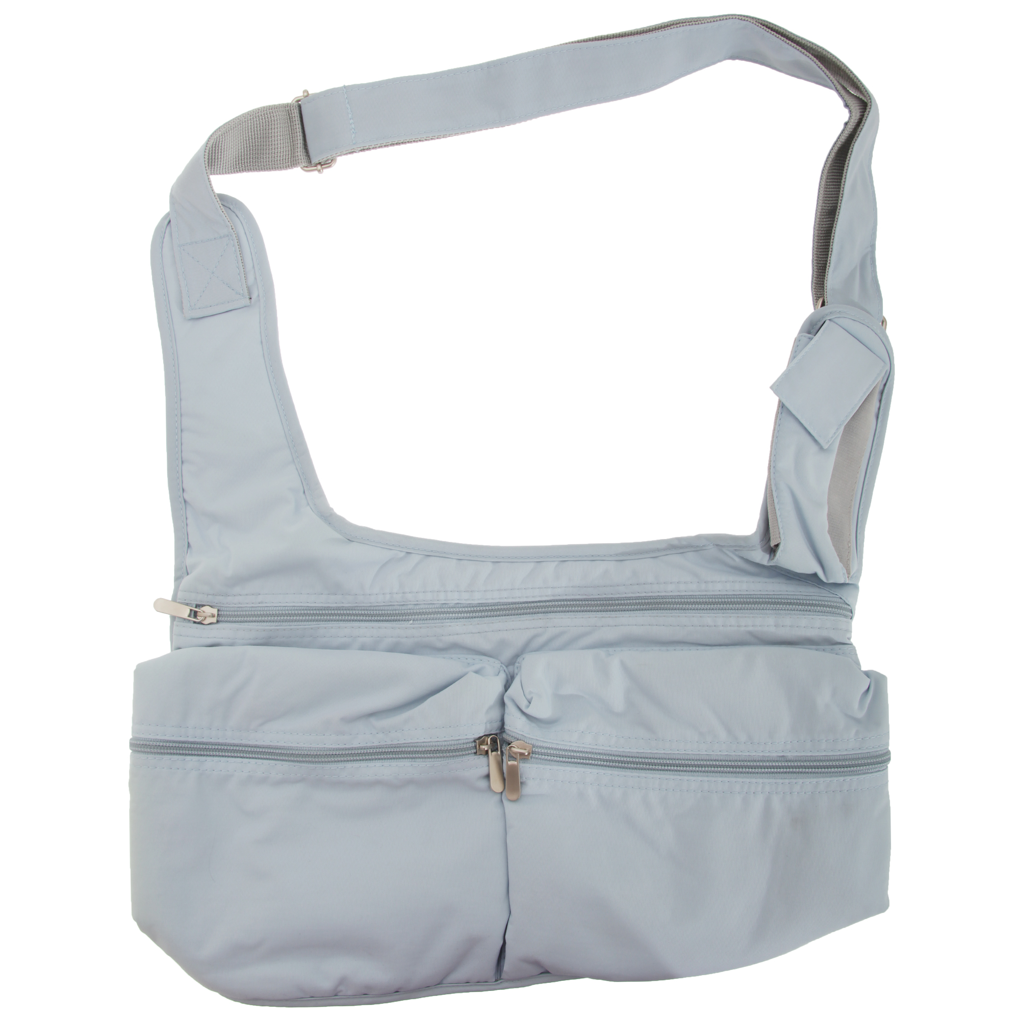 Quadra Ladies Messenger Bag (5 Litres) (Pack of 2) (One Size) (Cool blue)