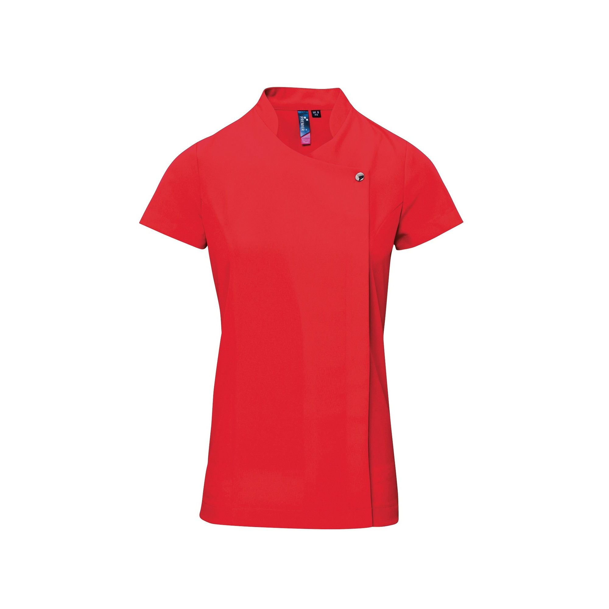 Premier Ladies/Womens *Blossom* Tunic / Health Beauty & Spa / Workwear (Pack of 2) (8) (Strawberry Red)