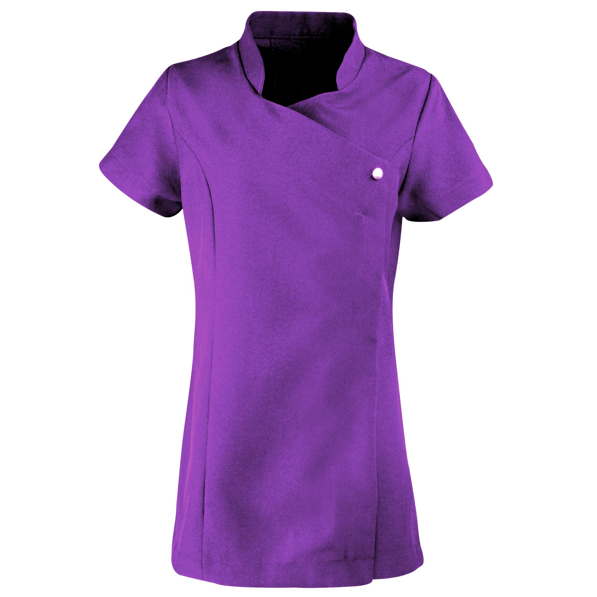 Premier Ladies/Womens *Blossom* Tunic / Health Beauty & Spa / Workwear (Pack of 2) (6) (Purple)