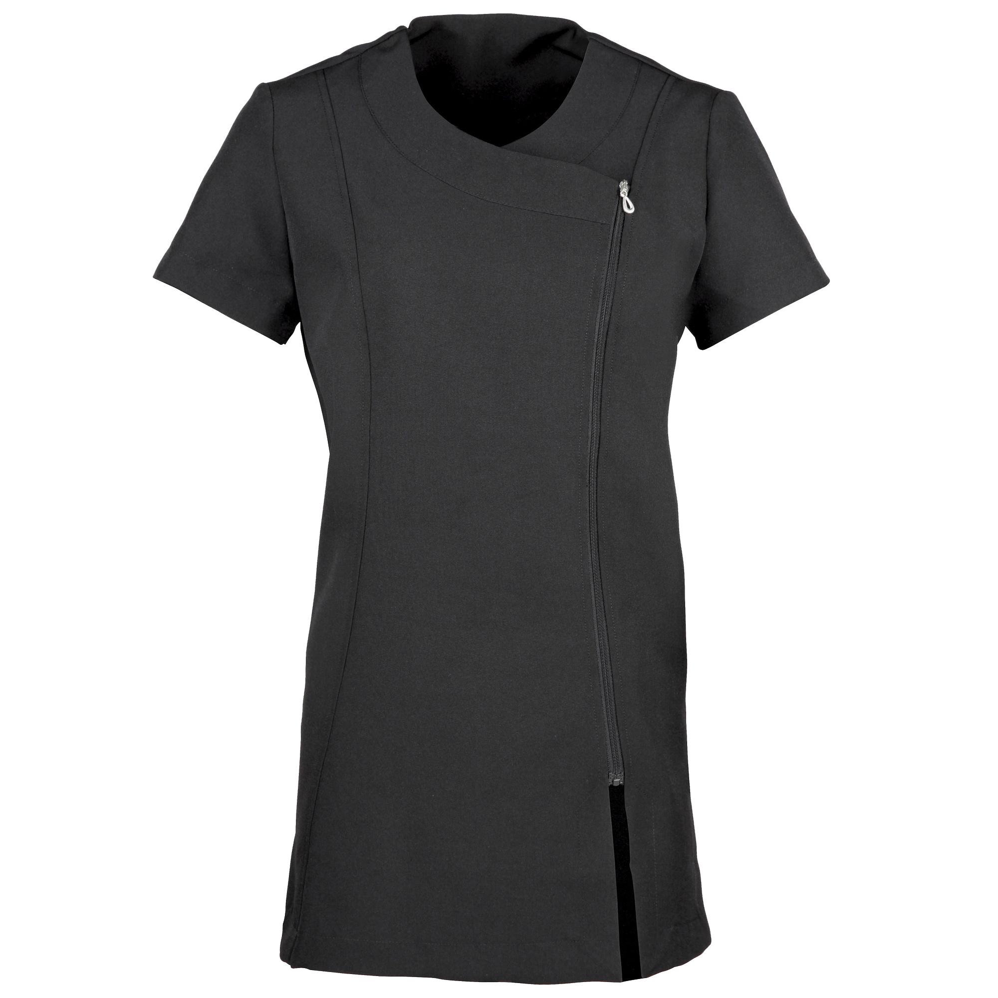 Premier Ladies/Womens *Camellia* Tunic / Health Beauty & Spa / Workwear (Pack of 2) (18) (Black)