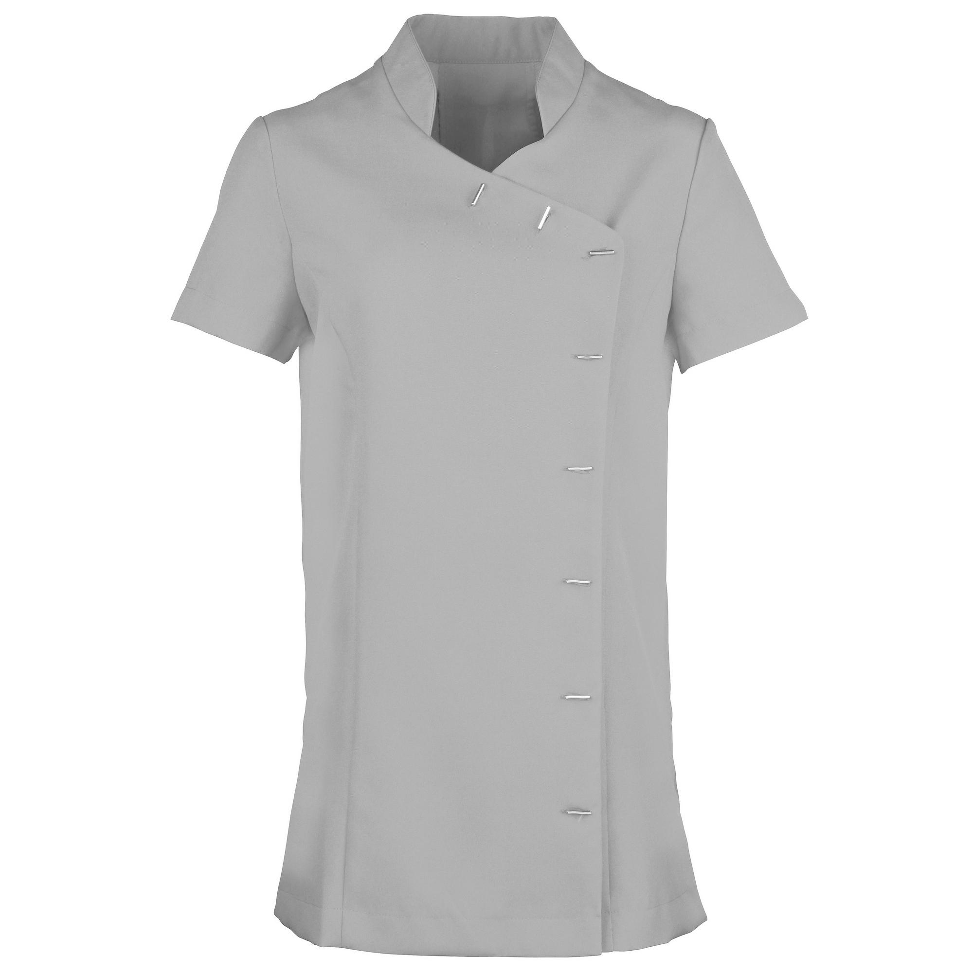 Premier Womens/Ladies *Orchid* Tunic / Health Beauty & Spa / Workwear (Pack of 2) (12) (Silver)