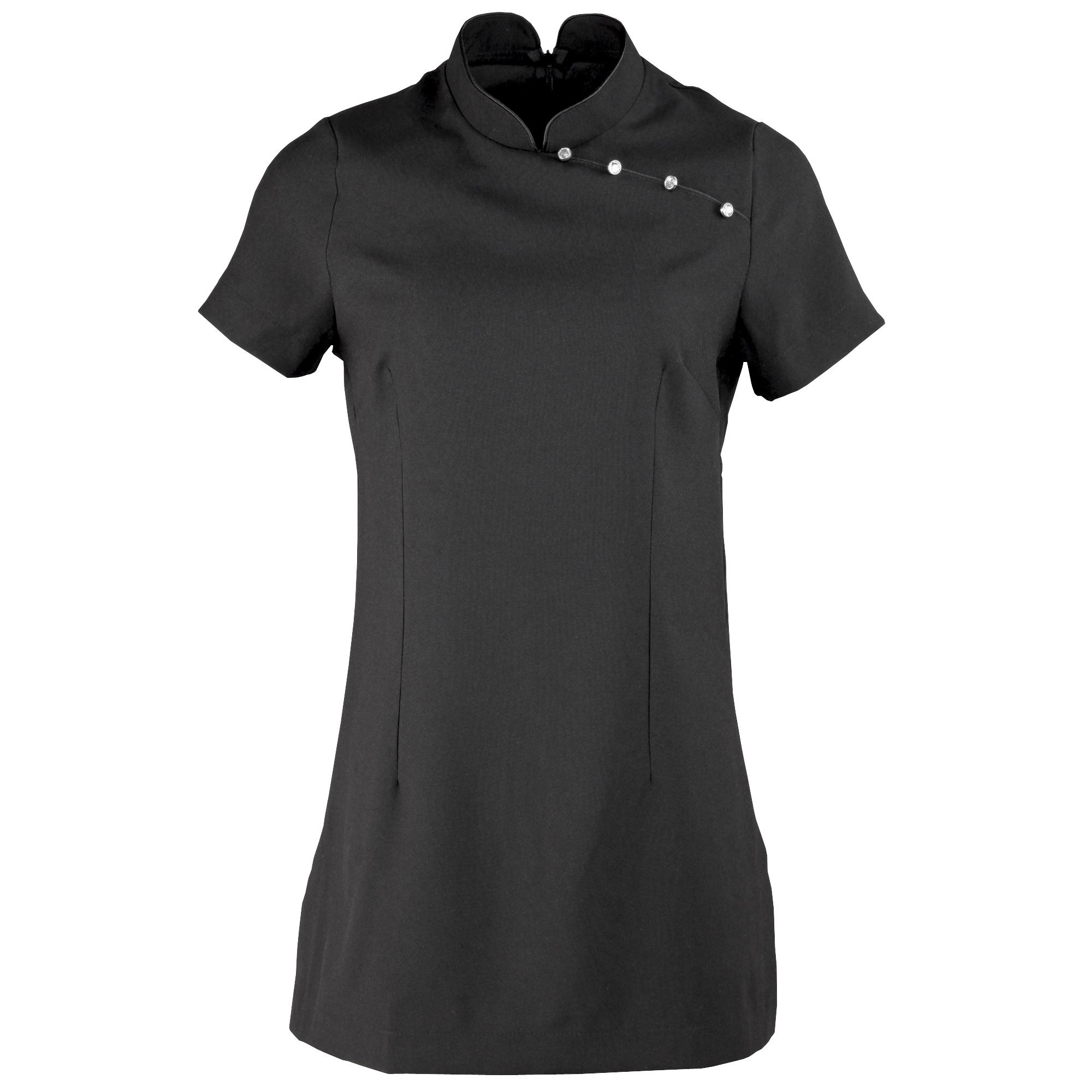 Premier Ladies/Womens *Mika* Tunic / Health Beauty & Spa / Workwear (Pack of 2) (8) (Black)