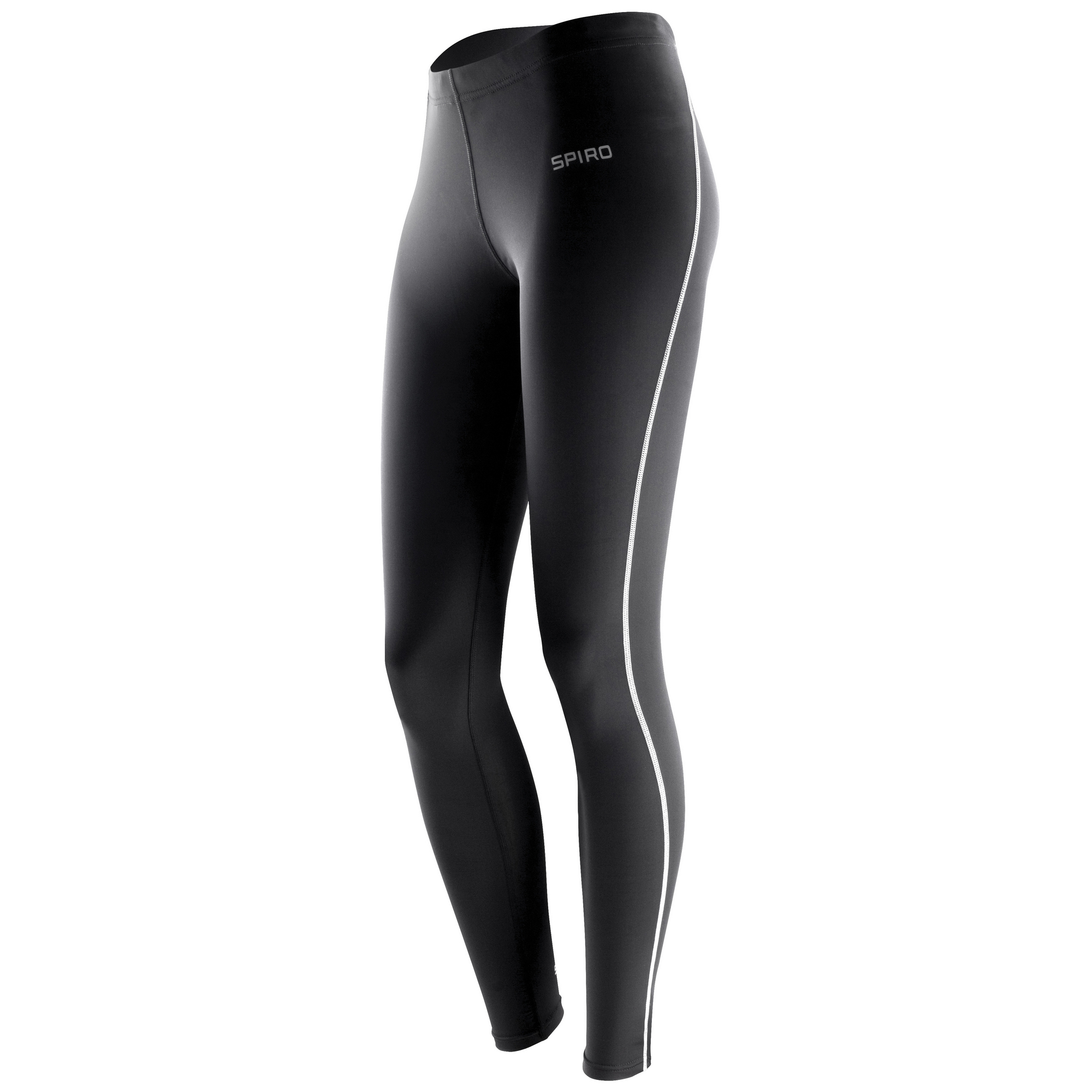 Spiro Ladies/Womens Bodyfit Performance Base Layer Leggings (Pack of 2) (XL-2XL) (Black)