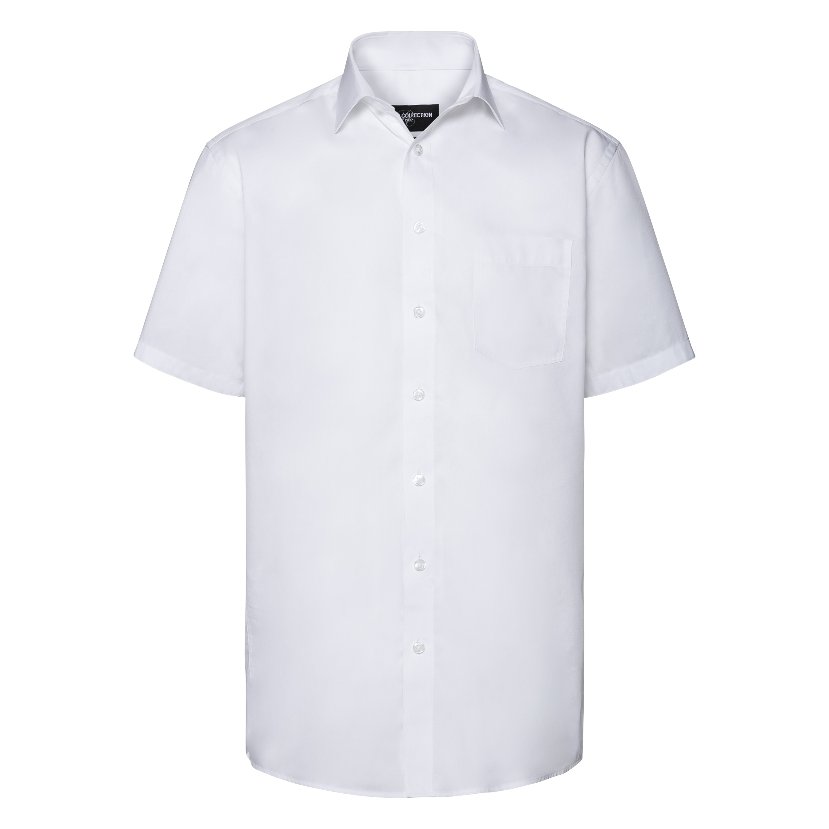 Russell Collection Mens Short Sleeve Tailored Coolmax Shirt (4XL) (White)