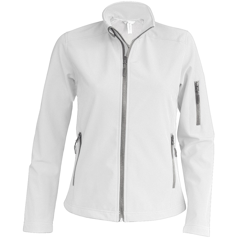 Kariban Womens/Ladies Contemporary Softshell 3 Layer Performance Jacket (XL) (White)