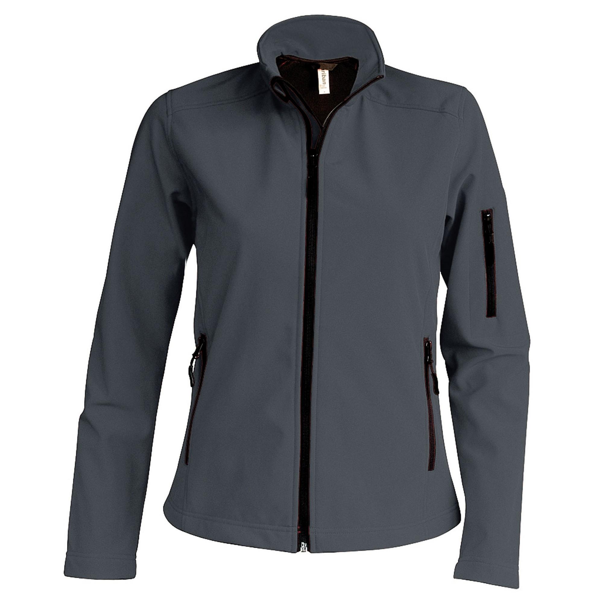 Kariban Womens/Ladies Contemporary Softshell 3 Layer Performance Jacket (L) (Marl Grey)