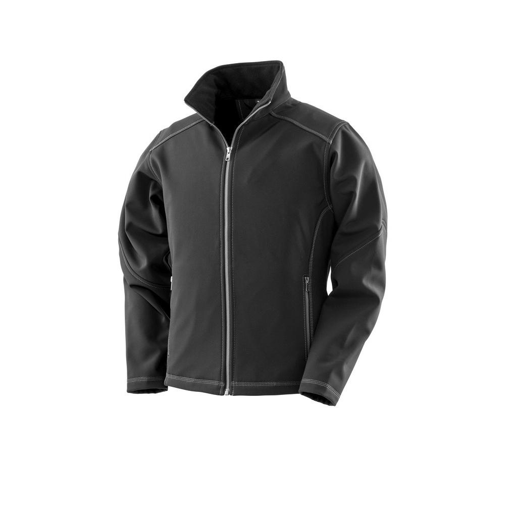 Result Work Guard Womens/Ladies Treble Stitch Softshell Jacket (8 UK) (Black)