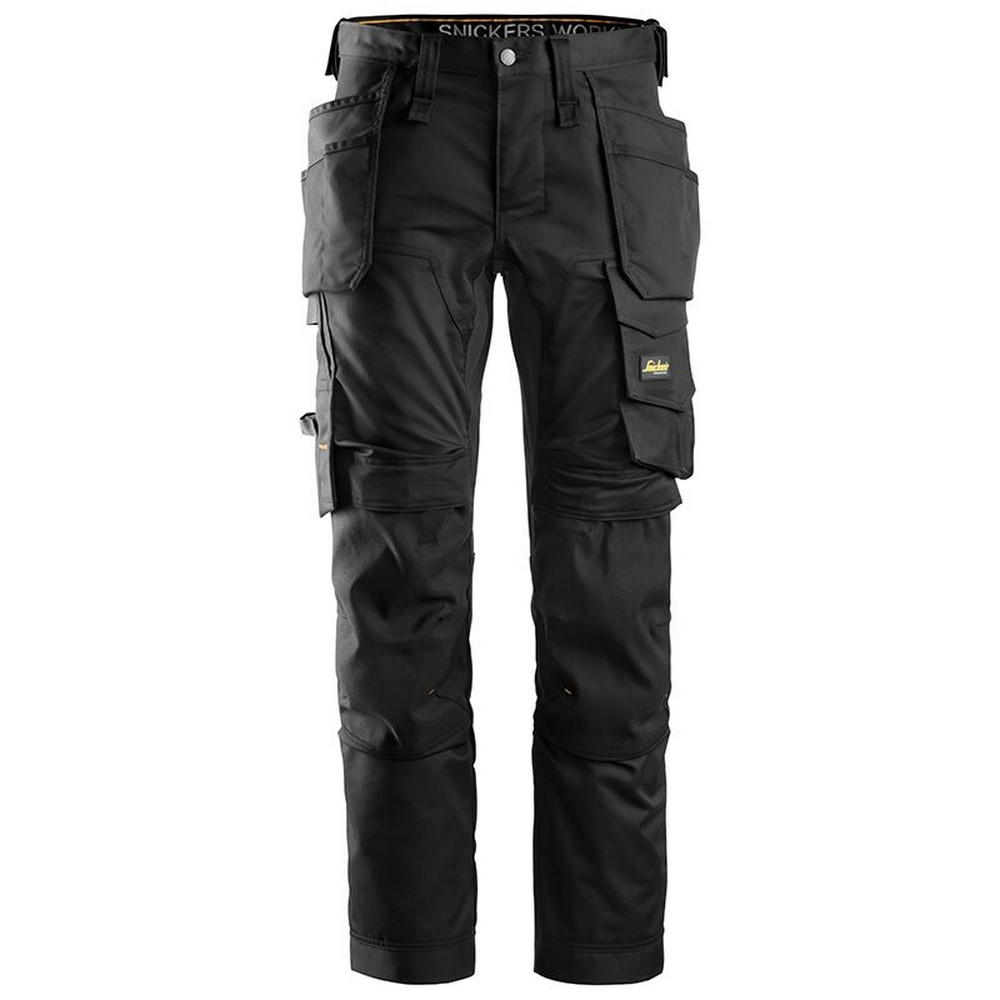 Snickers Mens All Round Work Holster Pocket Stretch Trousers (38S) (Black)