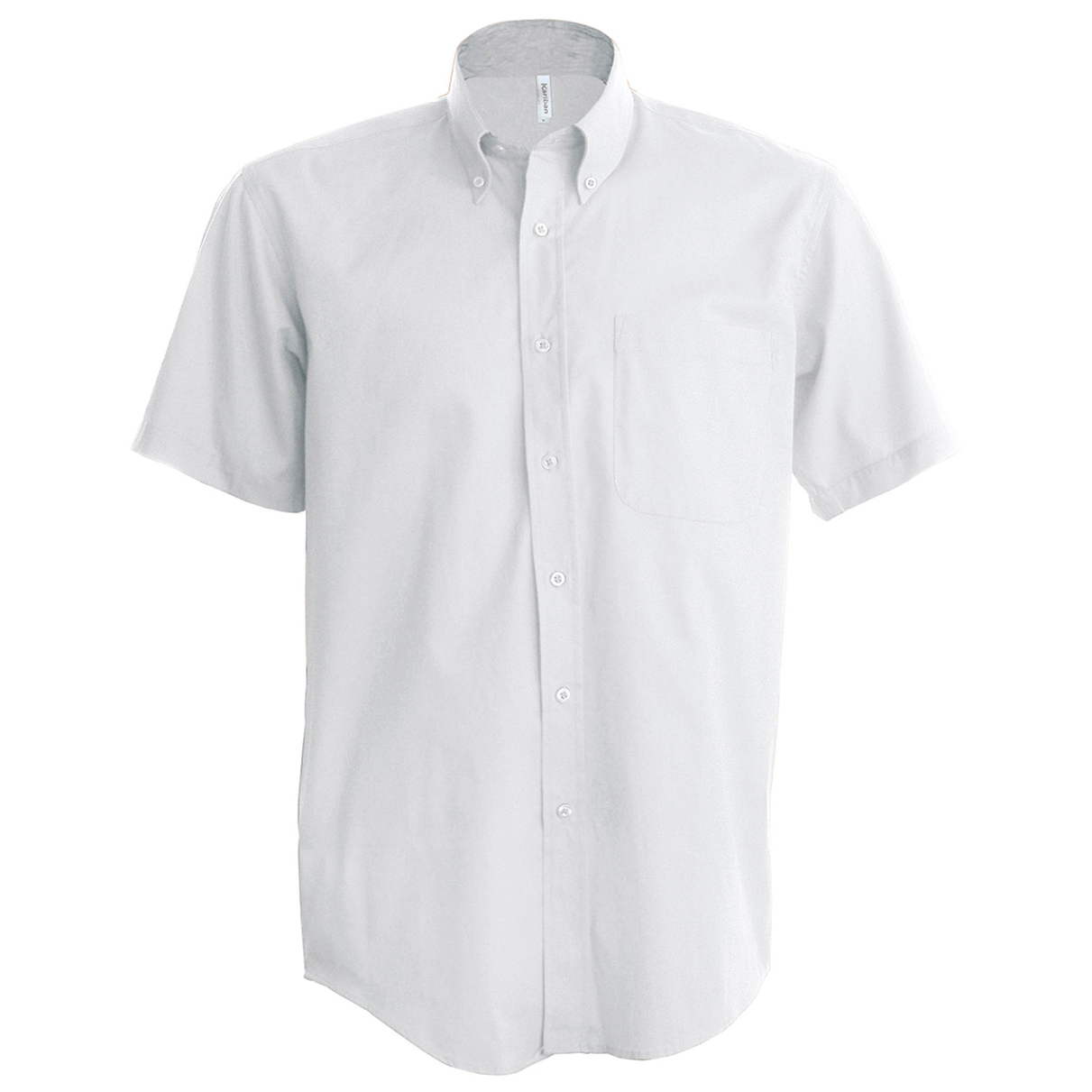 Kariban Mens Short Sleeve Easy Care Oxford Shirt (5XL) (White)