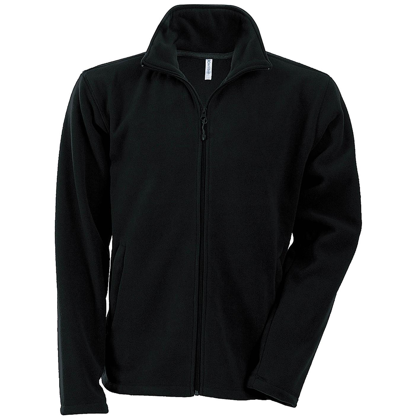 Kariban Mens Falco Full Zip Anti Pill Fleece Jacket (S) (Black)