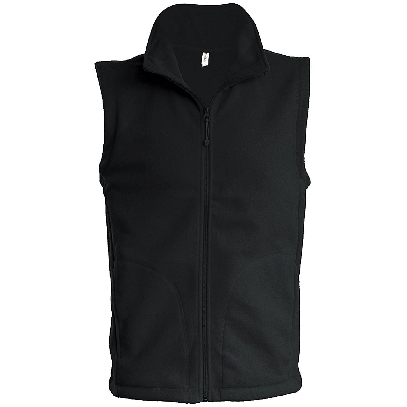 Kariban Mens Luca Fleece Gilet Jacket (3XL) (Black)