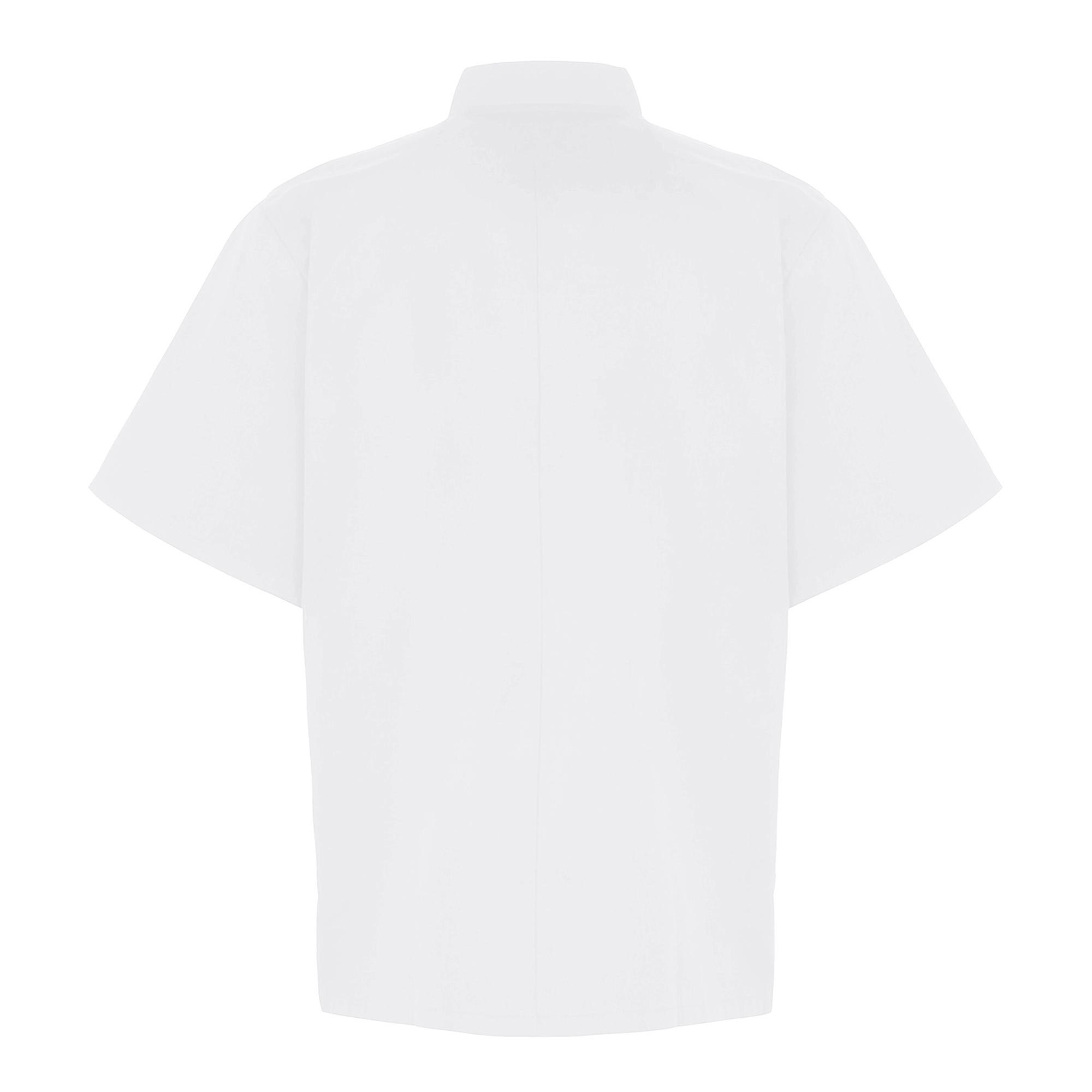 Premier Unisex Adults Chefs Zip-Close Short Sleeve Jacket (XS) (Black Denim)