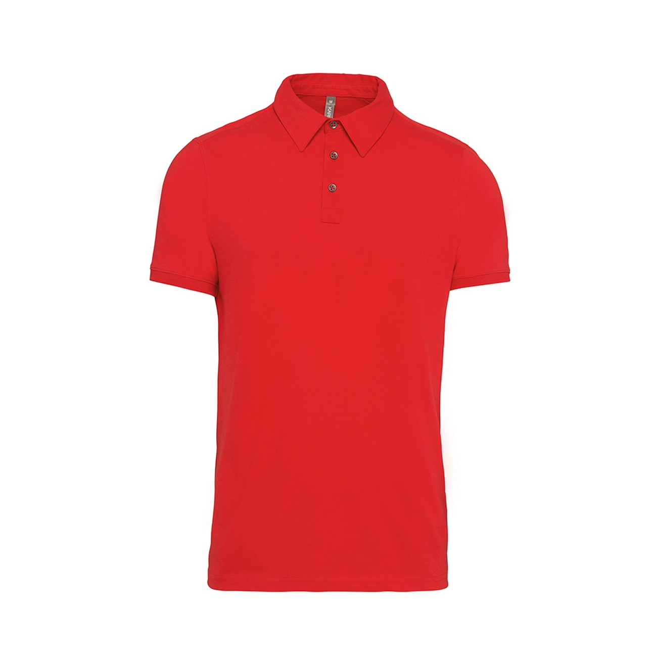 Kariban Mens Jersey Knit Polo Shirt (3XL) (Red)