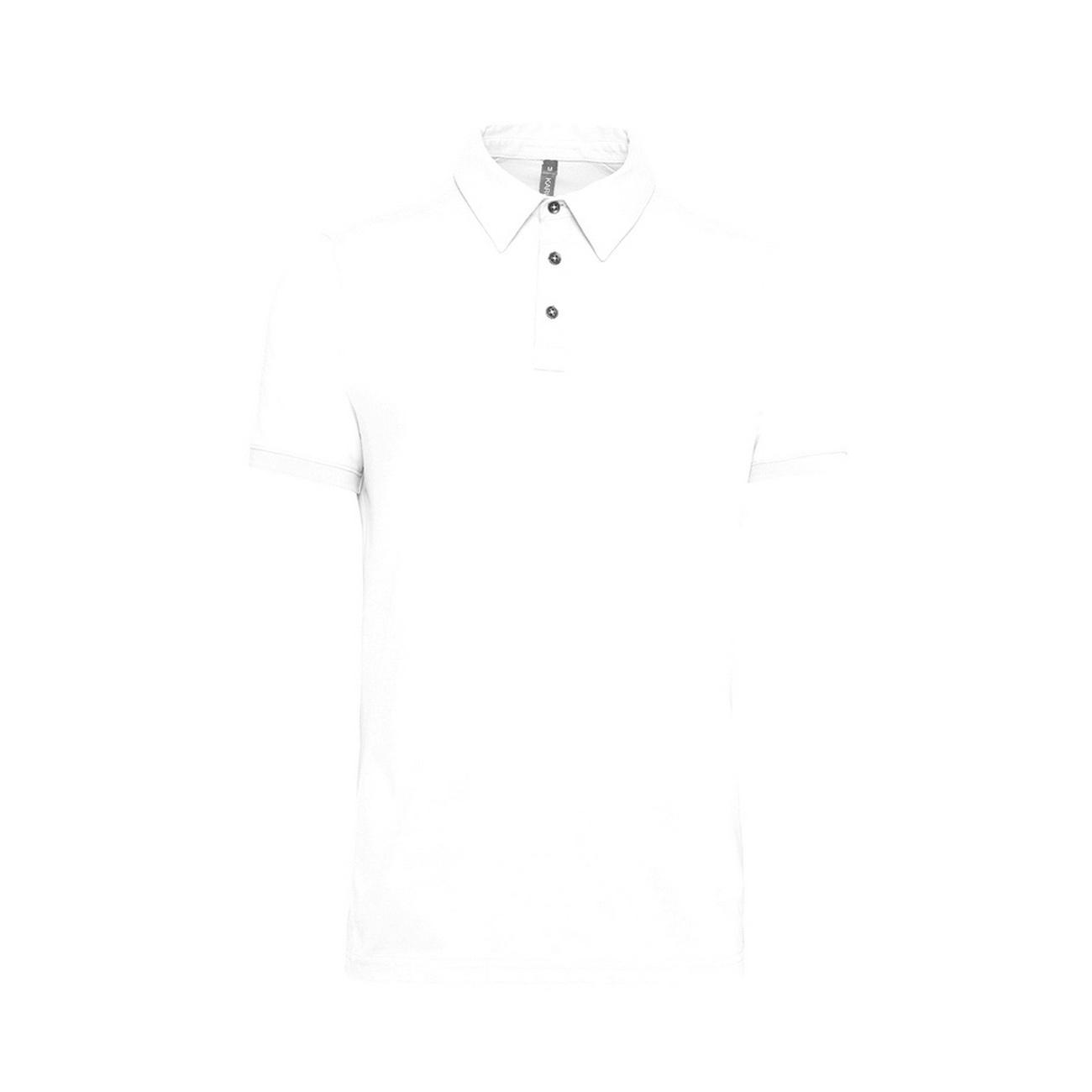 Kariban Mens Jersey Knit Polo Shirt (2XL) (White)