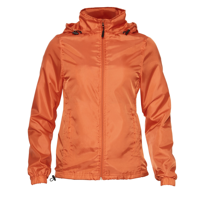Gildan Womens/Ladies Hammer Windwear Jacket (L) (Orange)