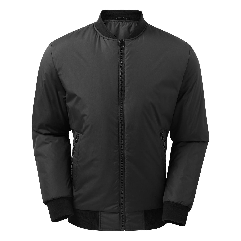 2786 Mens Delta Plain Bomber Jacket (M) (Black)
