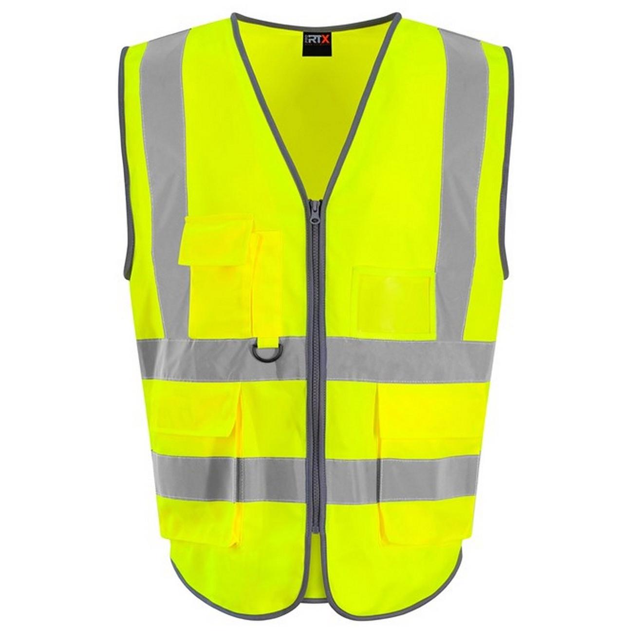 Pro RTX High Visibility Unisex Adults Executive Waistcoat (XL) (Yellow)