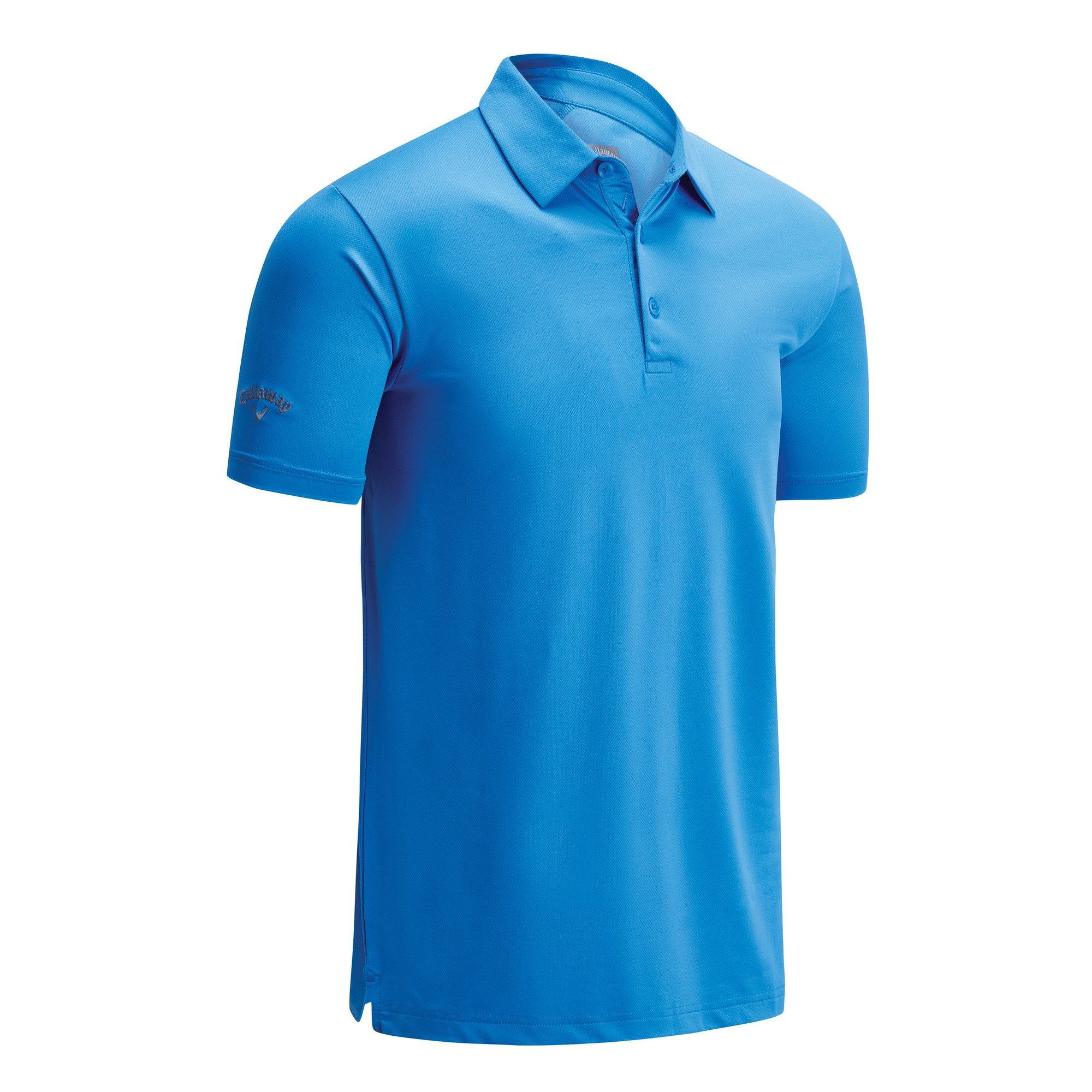 Callaway Mens Swing Tech Solid Colour Polo Shirt (XS) (Spring Break Sky)