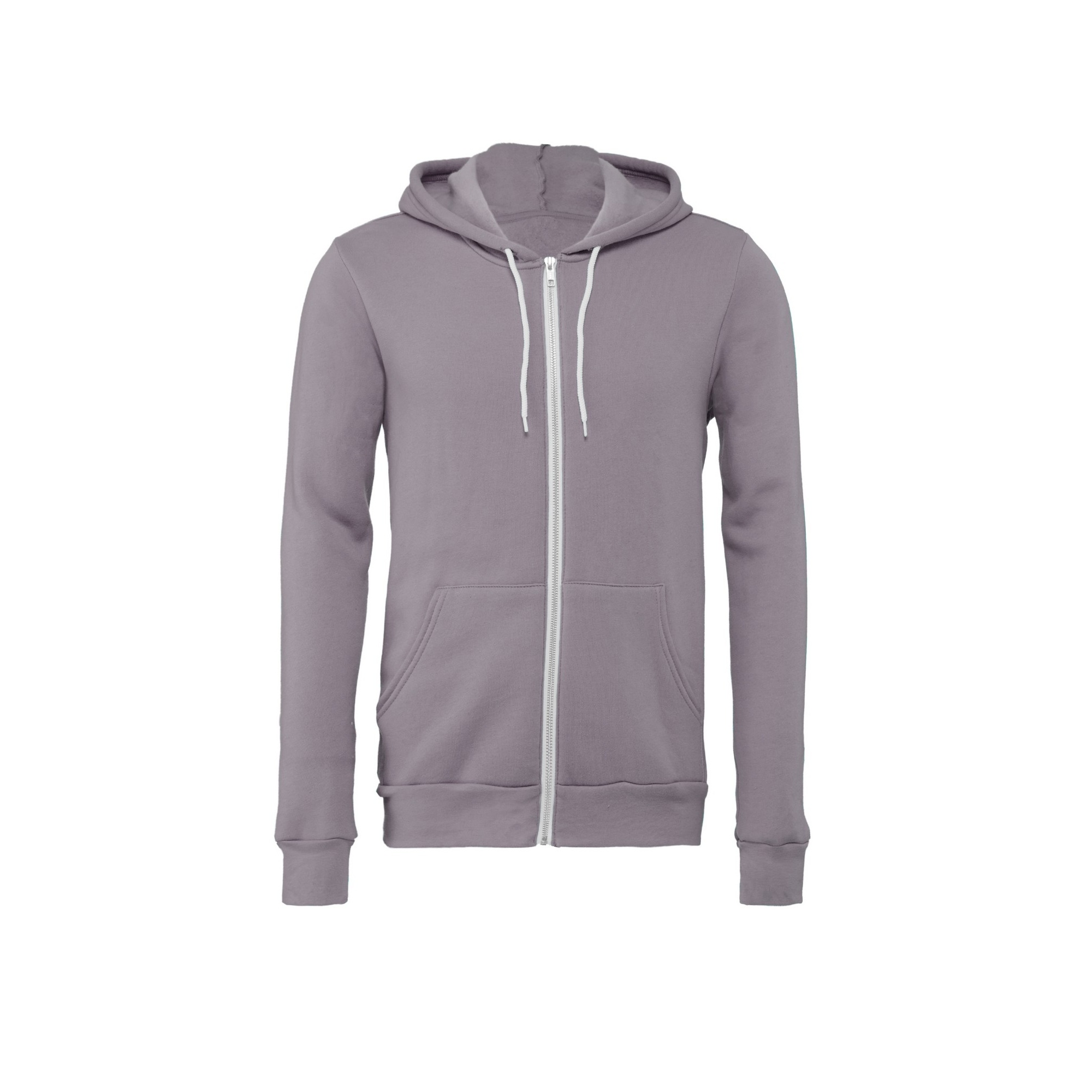 Bella + Canvas Unisex Adult Fleece Full Zip Hoodie (XXL) (White)