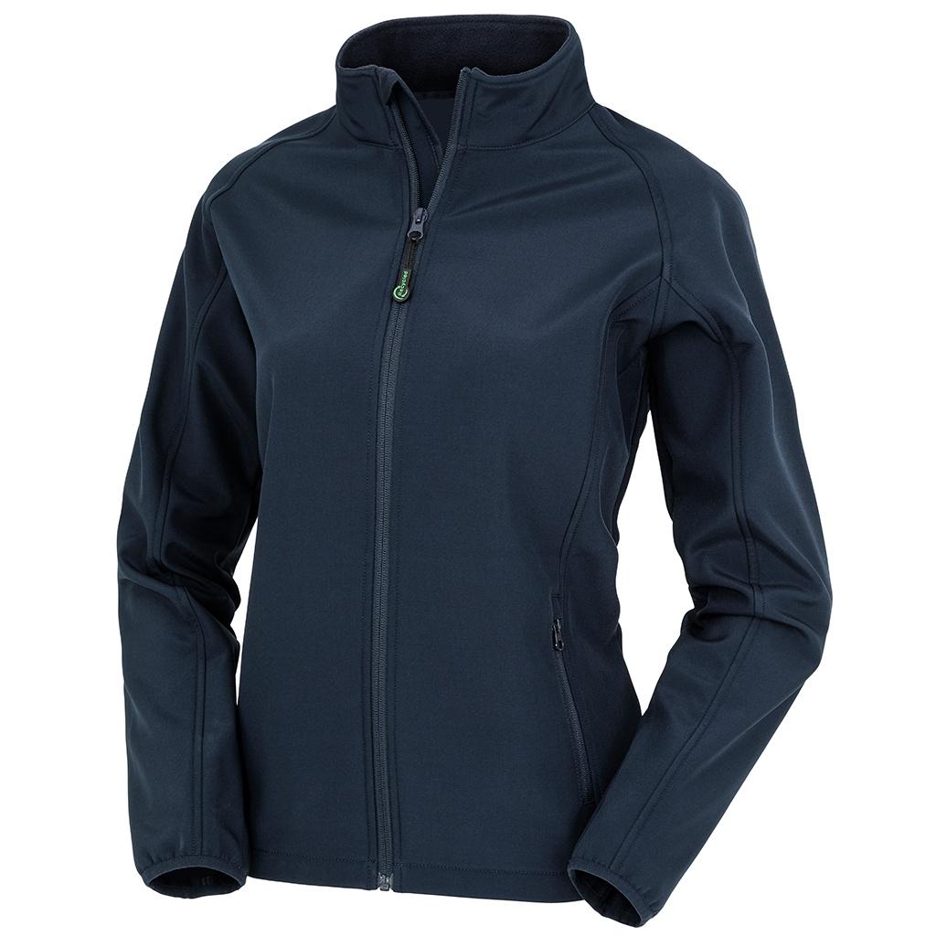 Result Genuine Recycled Womens/Ladies Softshell Printable Jacket (L) (Navy)