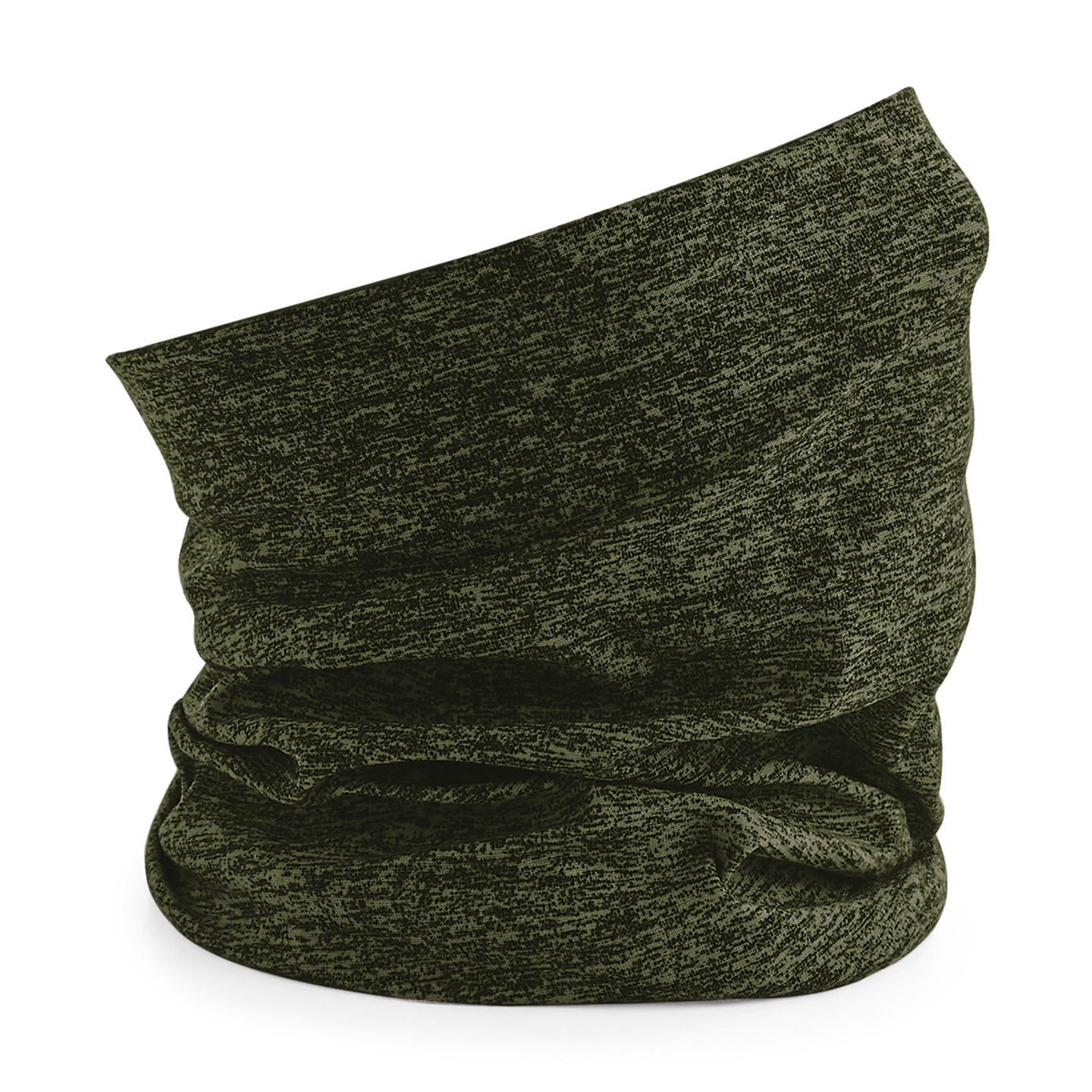 Beechfield Unisex Adult Morf Spacer Marl Neck Warmer (One Size) (Olive)