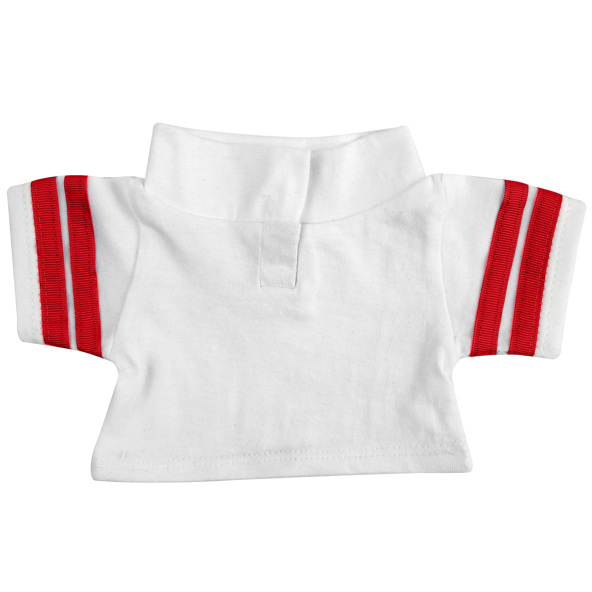 Mumbles Teddy Bear Rugby Shirt Accessory (S) (White/Red)