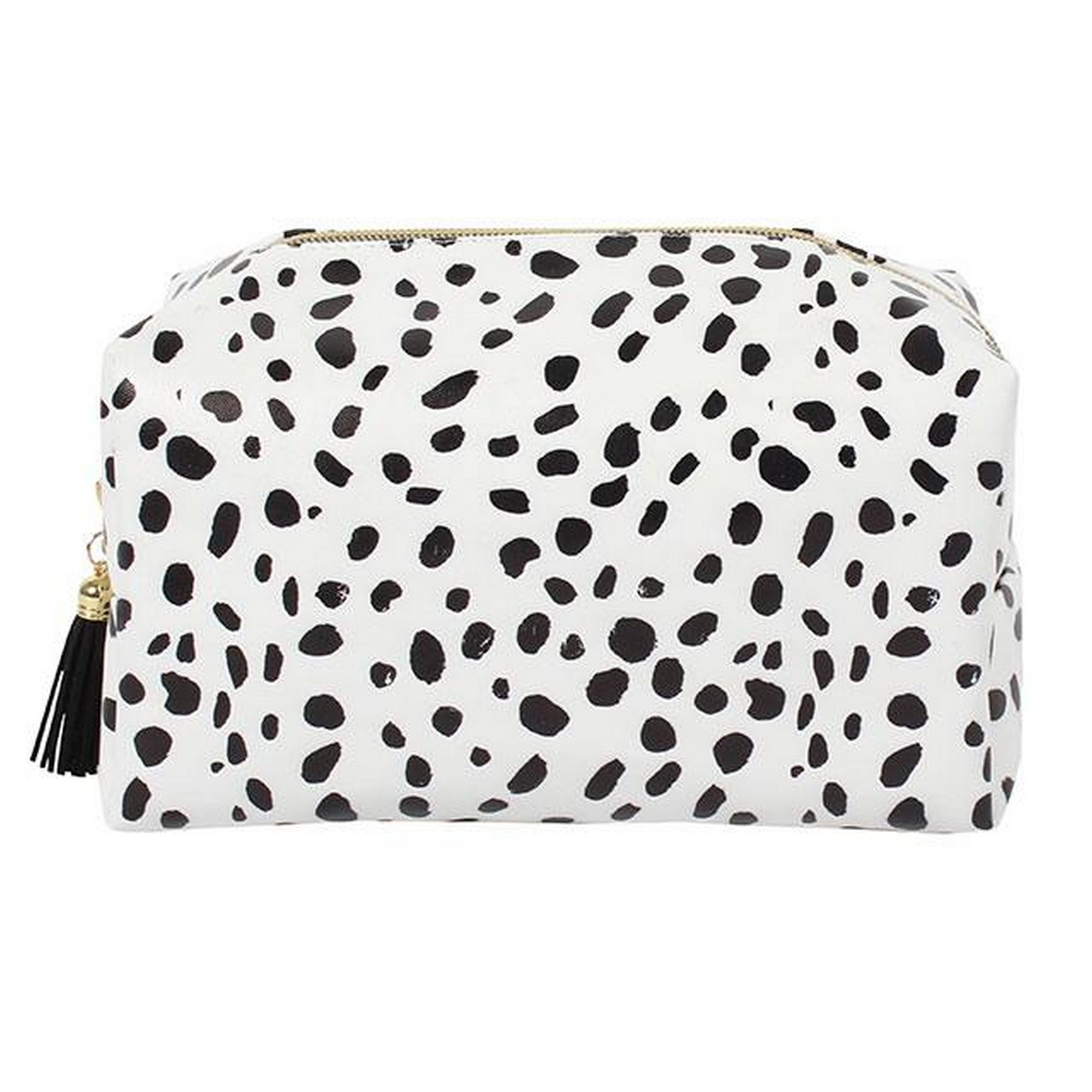 Something Different Dalmatian Print Make Up Bag (One Size) (Black/White)